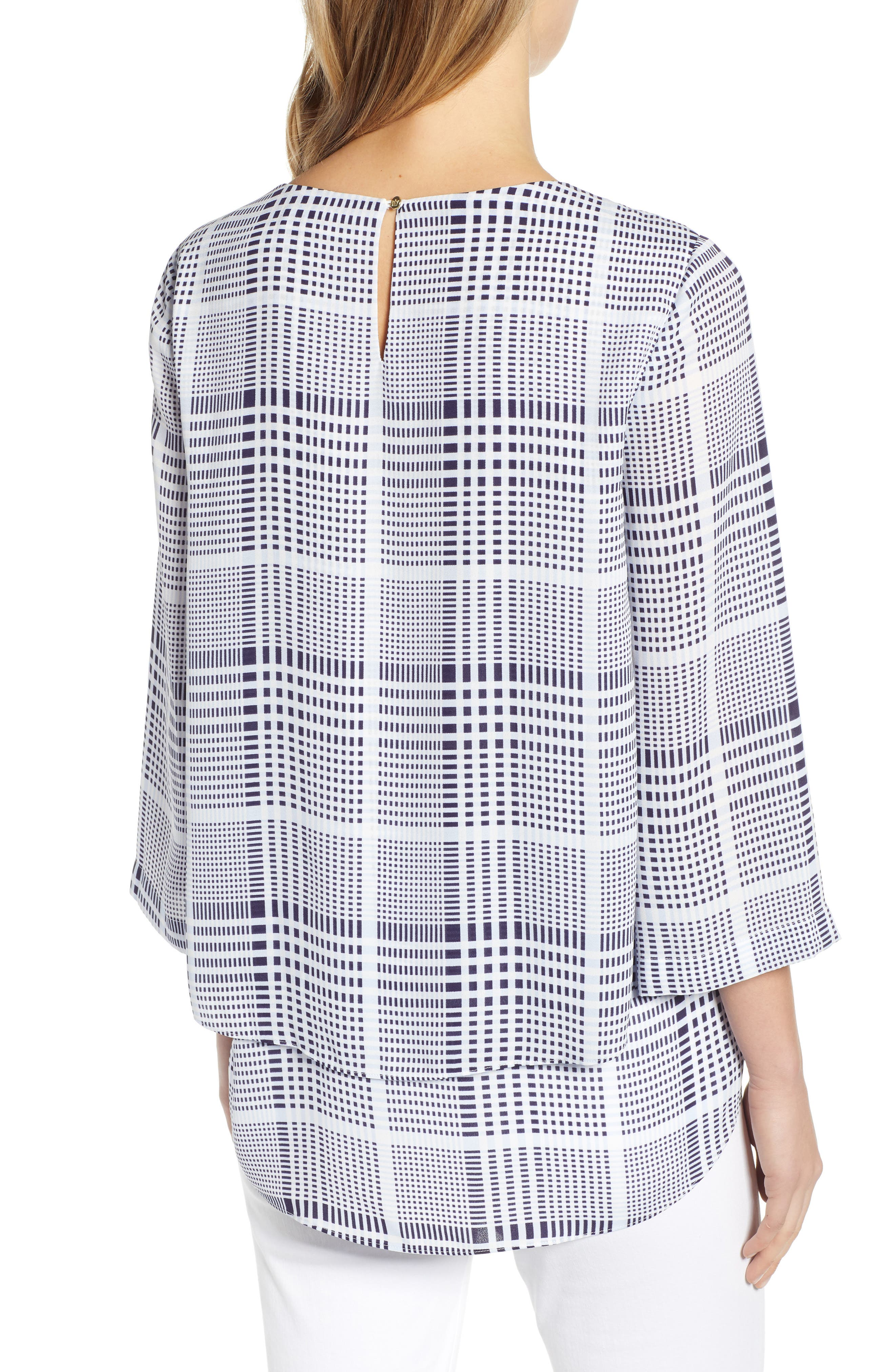 CHAUS,                             Double Layer Modern Top,                             Alternate thumbnail 2, color,                             ANTIQ. WHI