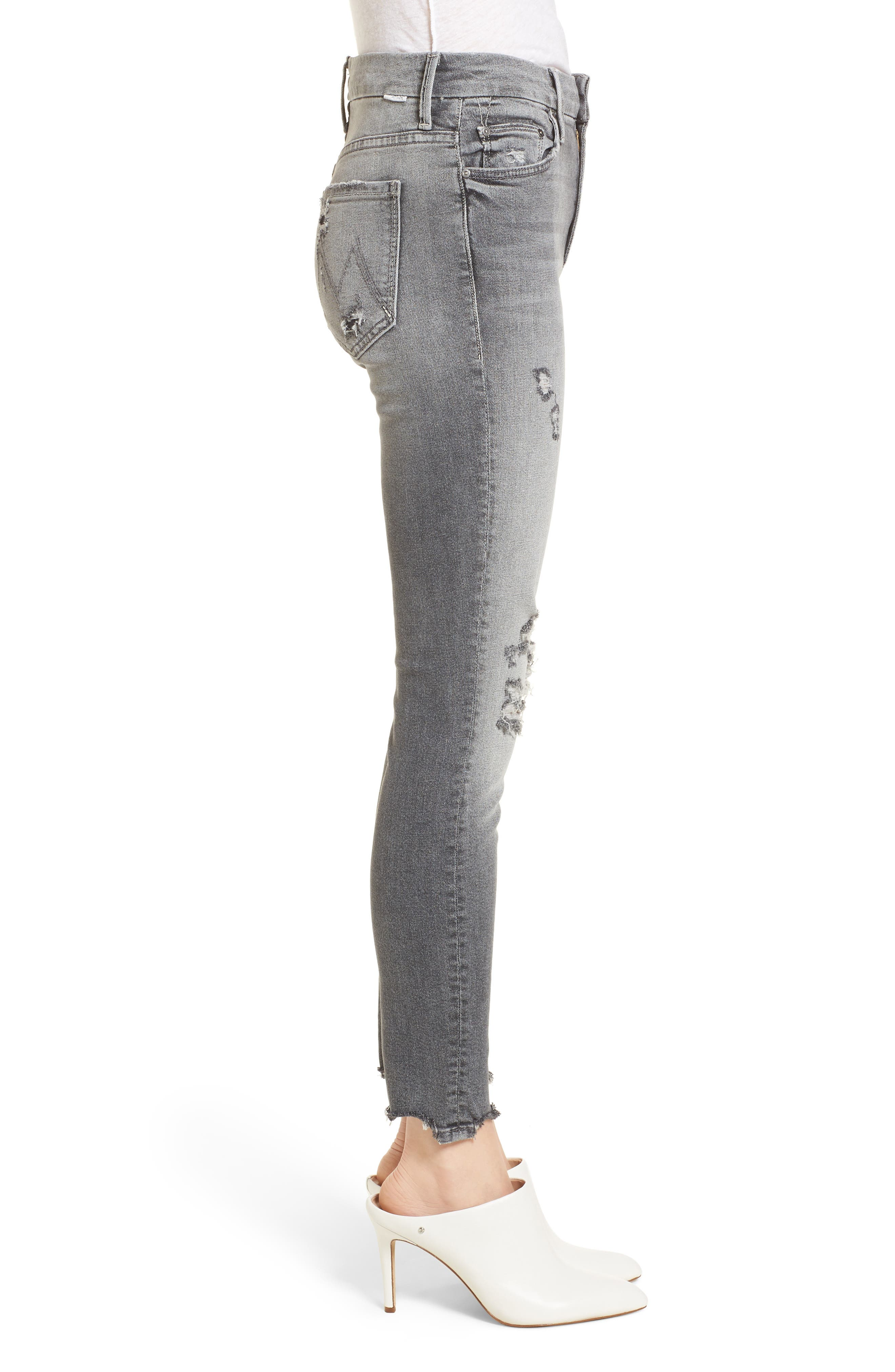 The Looker High Waist Ankle Skinny Jeans,                             Alternate thumbnail 3, color,