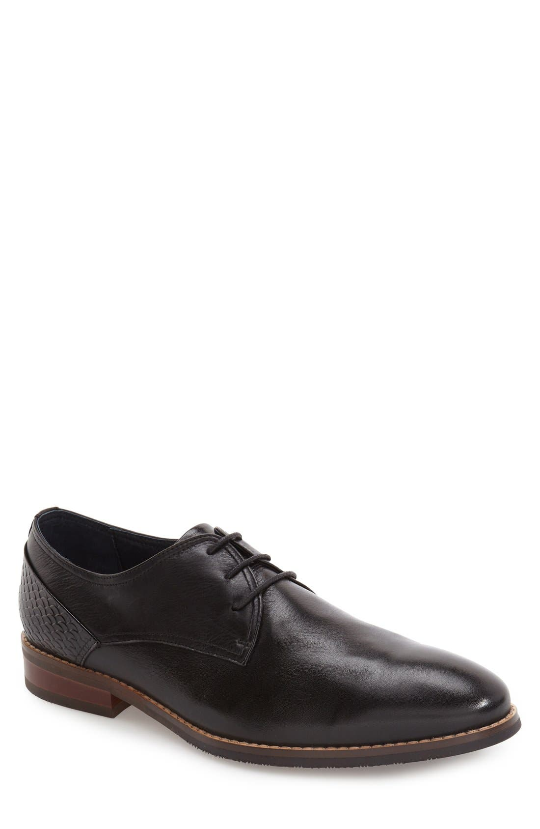 'Seattle' Plain Toe Derby,                         Main,                         color, 001
