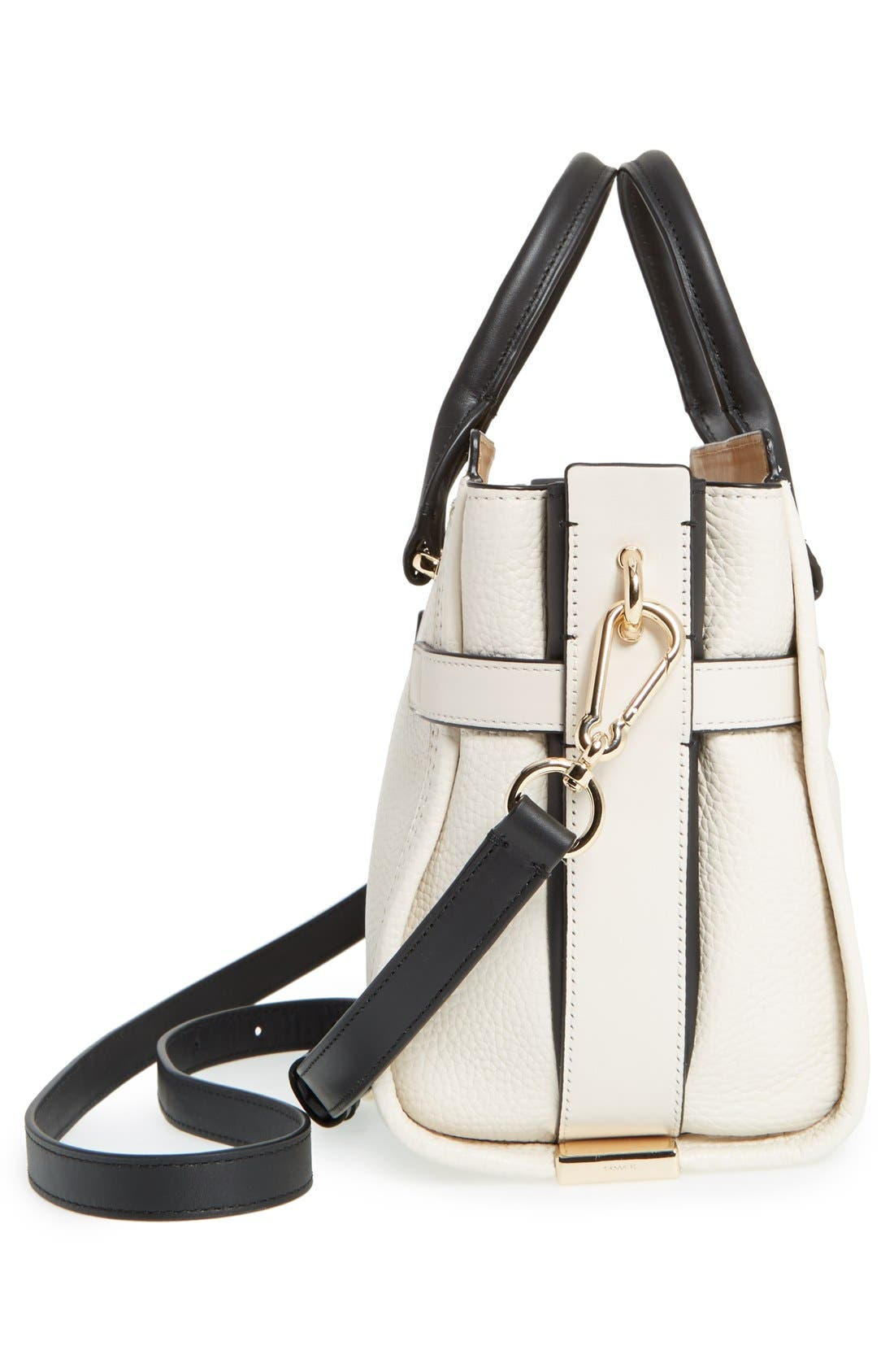 'Swagger 35' Colorblock Leather Satchel,                             Alternate thumbnail 3, color,                             178