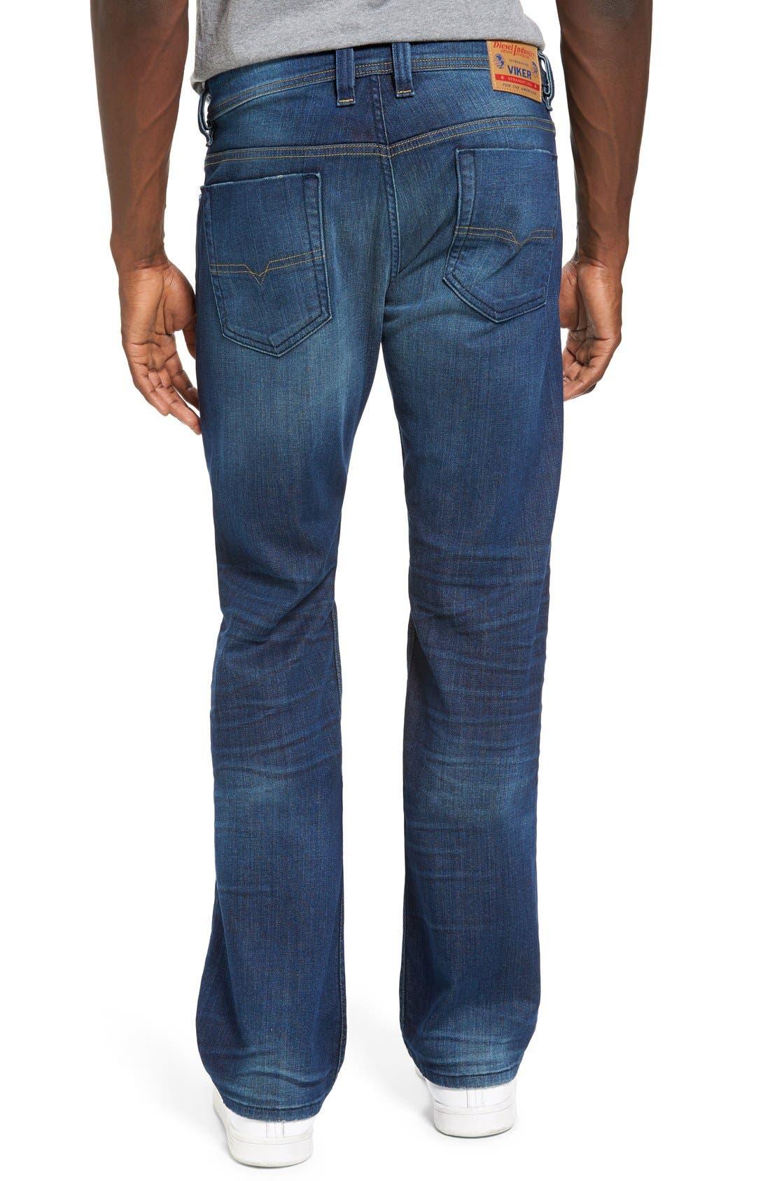 DIESEL Viker Straight Leg Jeans,                             Alternate thumbnail 3, color,                             400