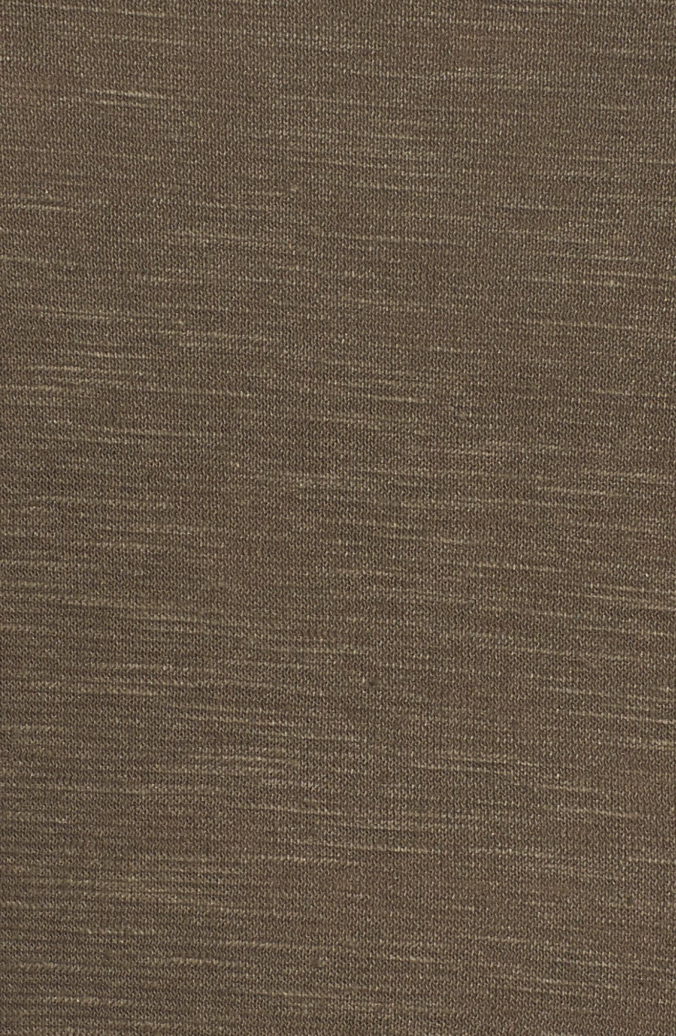 Scooped Neck Hemp & Cotton Midi Dress,                             Alternate thumbnail 6, color,                             359