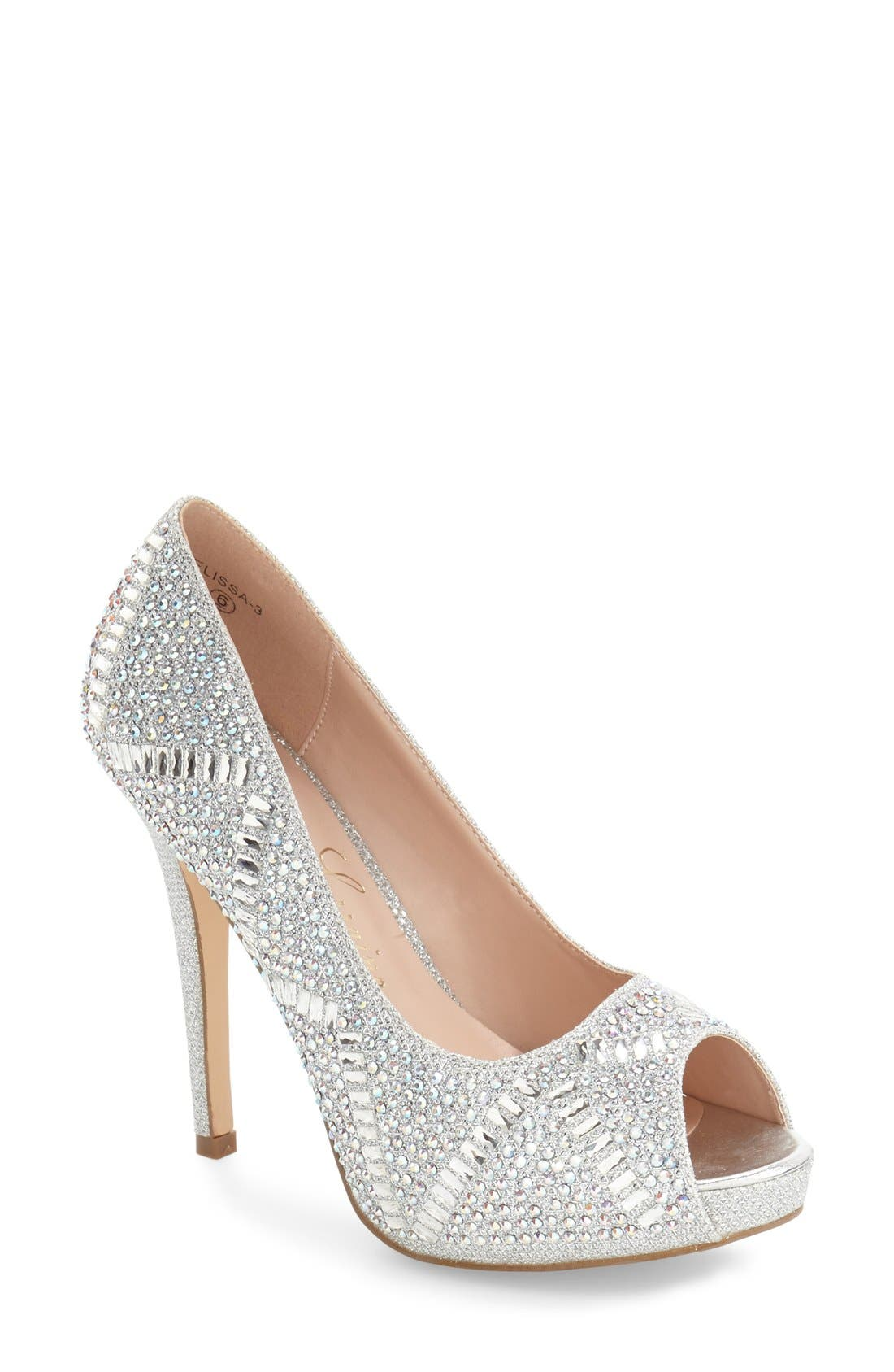 Elissa - 3 Peep Toe Pump,                             Main thumbnail 2, color,