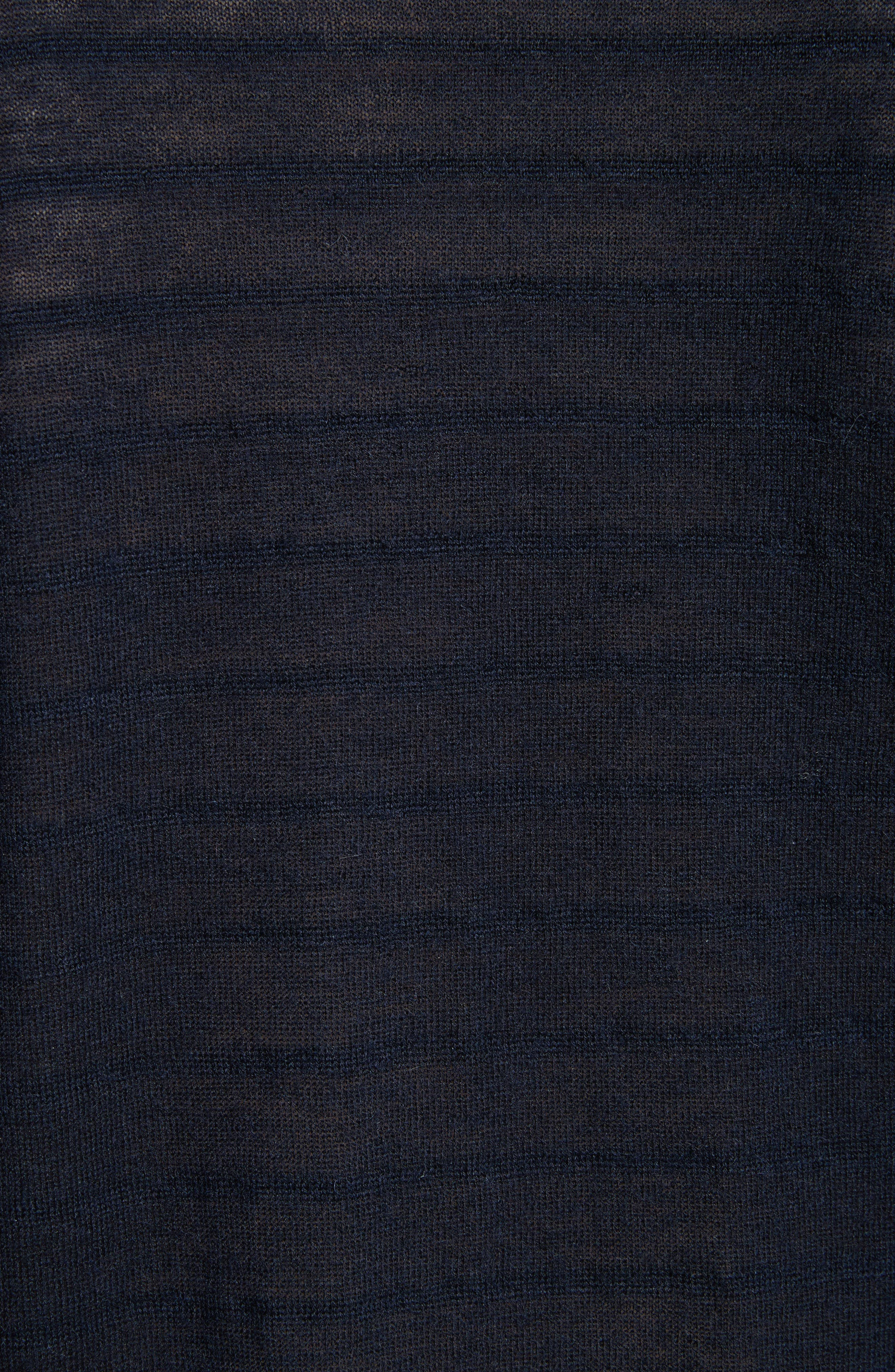 VINCE,                             Textured Stripe Wool & Cashmere Tee,                             Alternate thumbnail 5, color,                             403