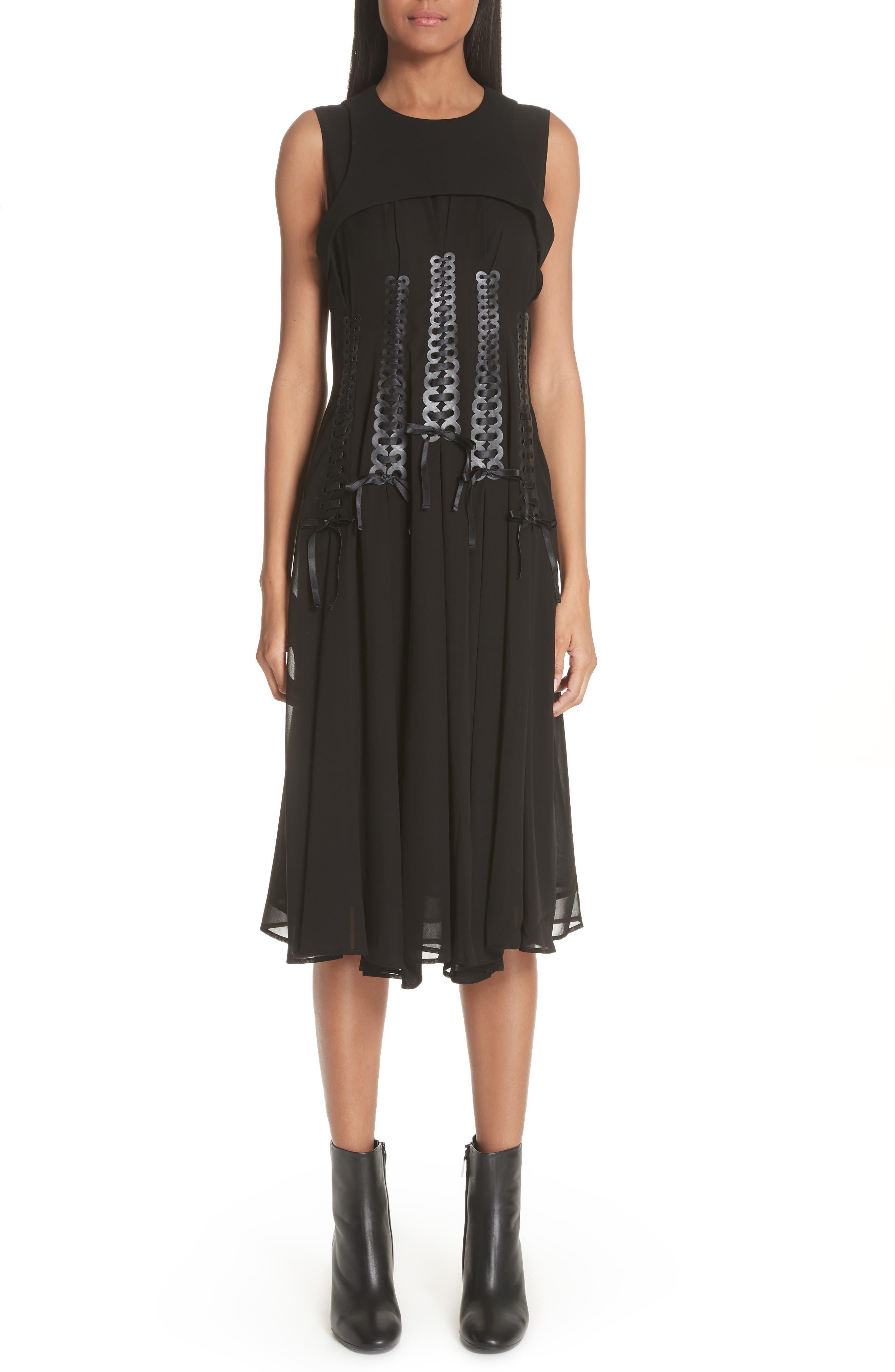 Ribbon Bodice Dress,                             Main thumbnail 1, color,                             001