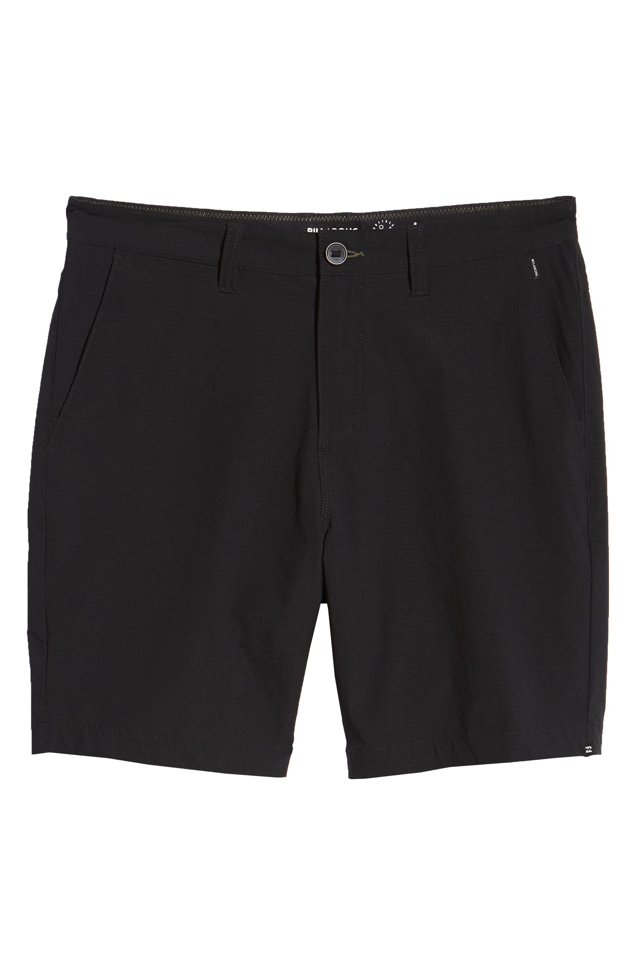 Surfreak Hybrid Shorts,                             Alternate thumbnail 6, color,                             BLACK