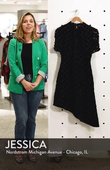 Asymmetrical Velvet Dot Dress, sales video thumbnail