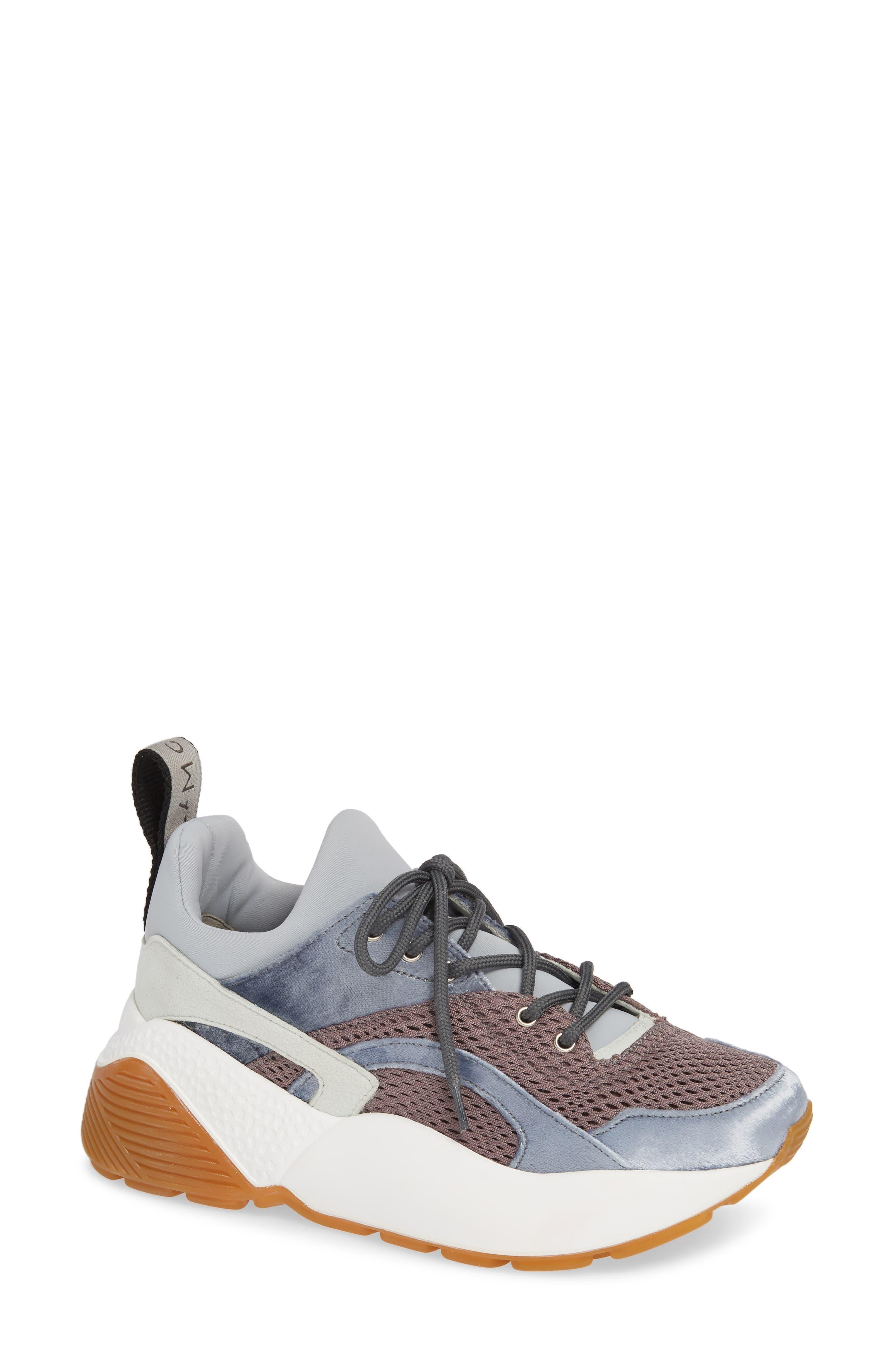 Eclypse Lace-Up Sneaker,                             Main thumbnail 1, color,                             GREY/ SILVER/ WHITE