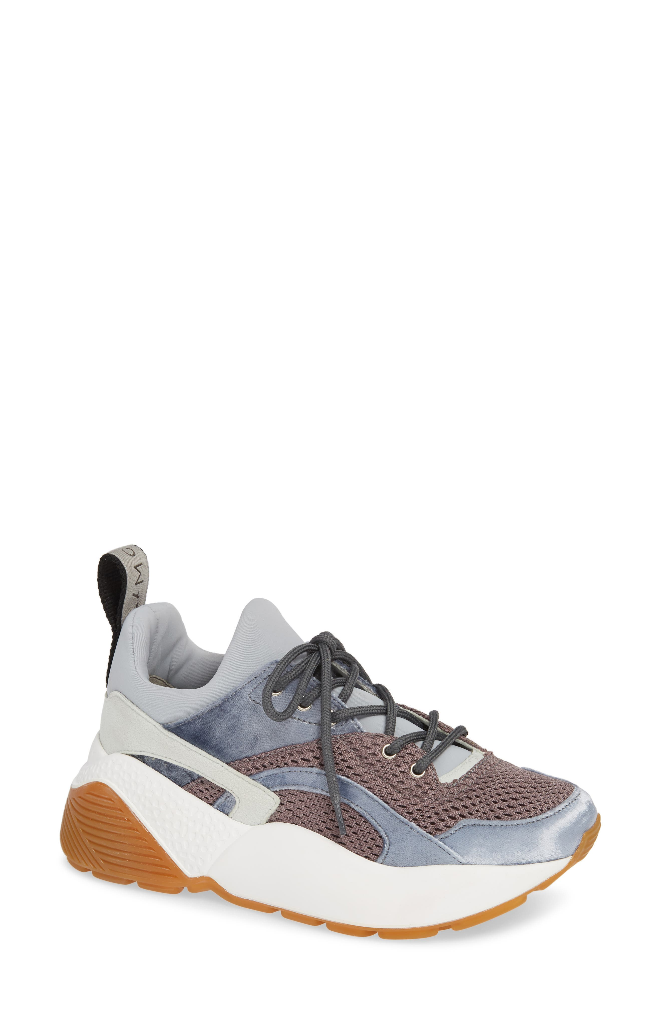 Eclypse Lace-Up Sneaker,                         Main,                         color, GREY/ SILVER/ WHITE