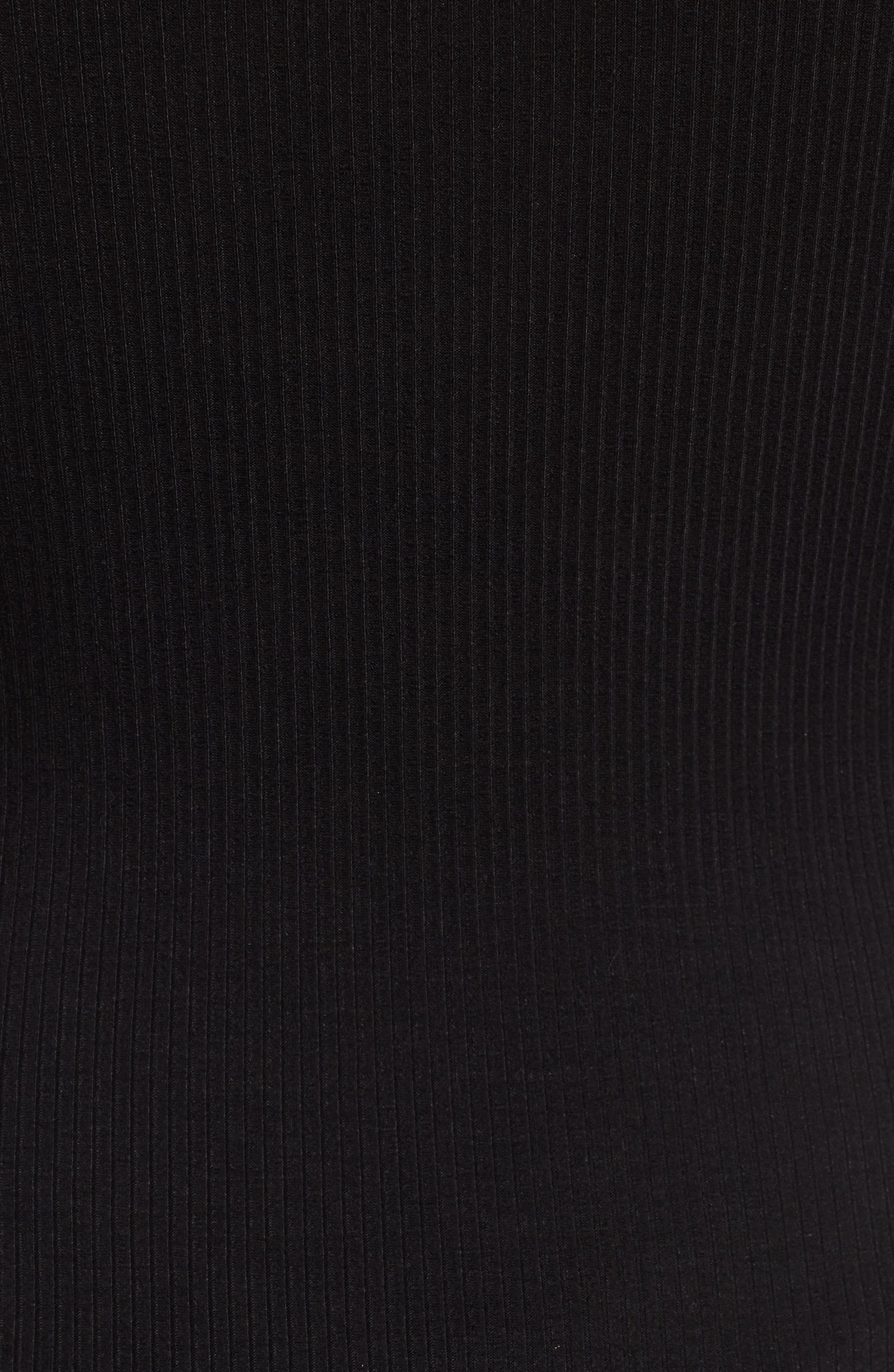 Ruffle Strap Bodysuit,                             Alternate thumbnail 5, color,                             001