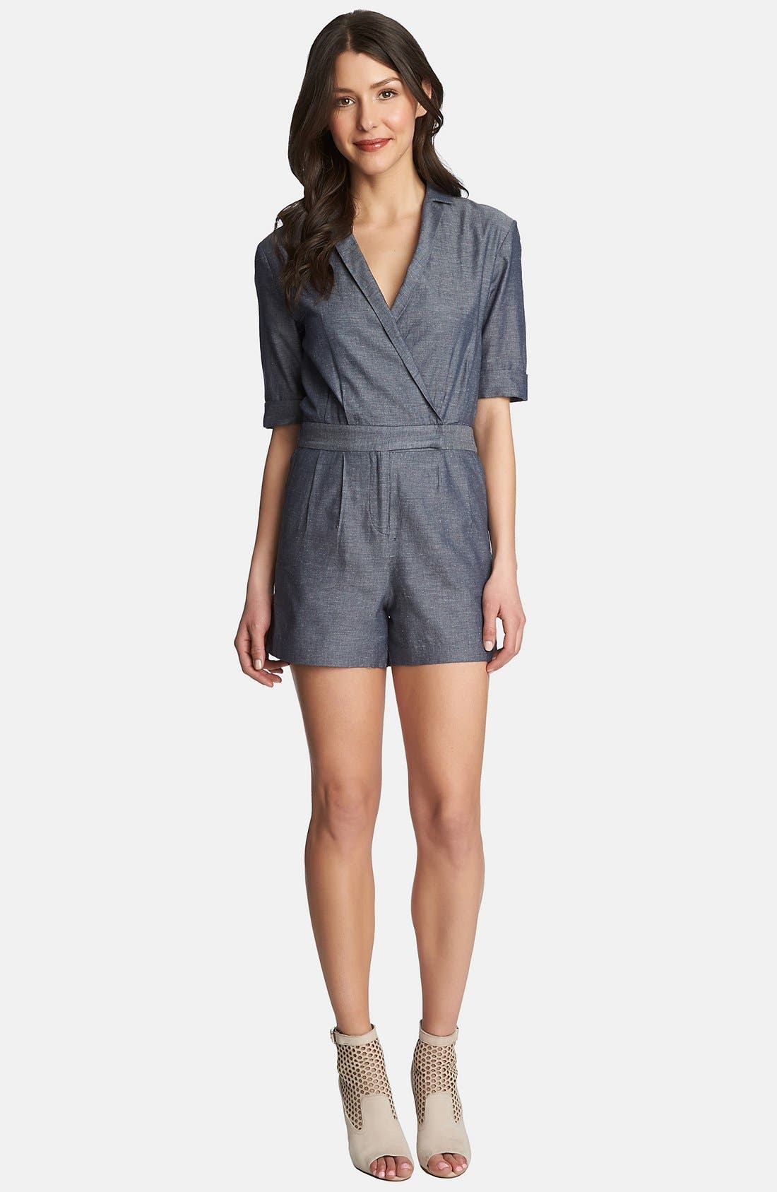 1.STATE,                             Wrap Front Romper,                             Main thumbnail 1, color,                             061