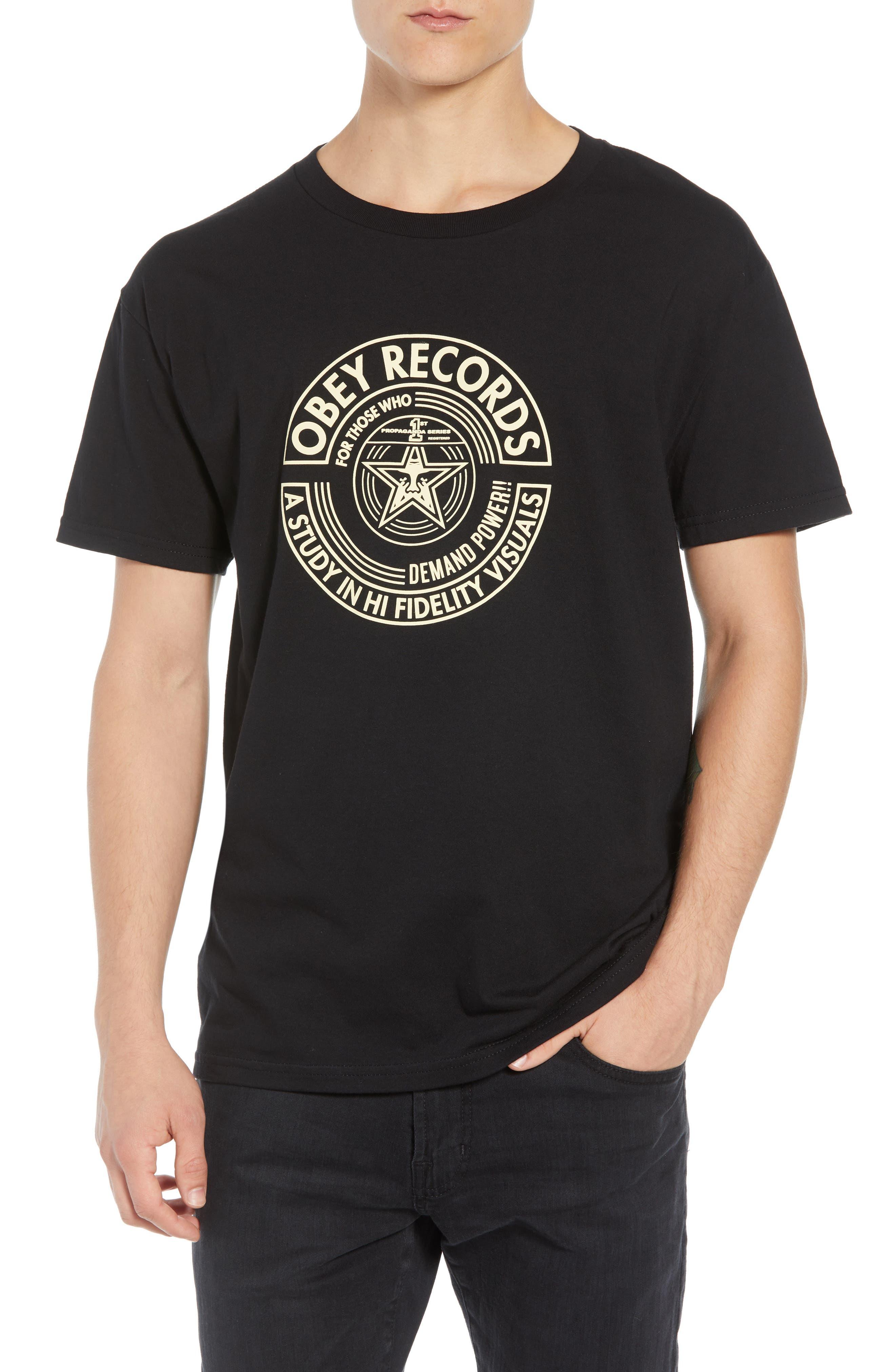 Visual Fidelity Premium T-Shirt,                         Main,                         color, BLACK