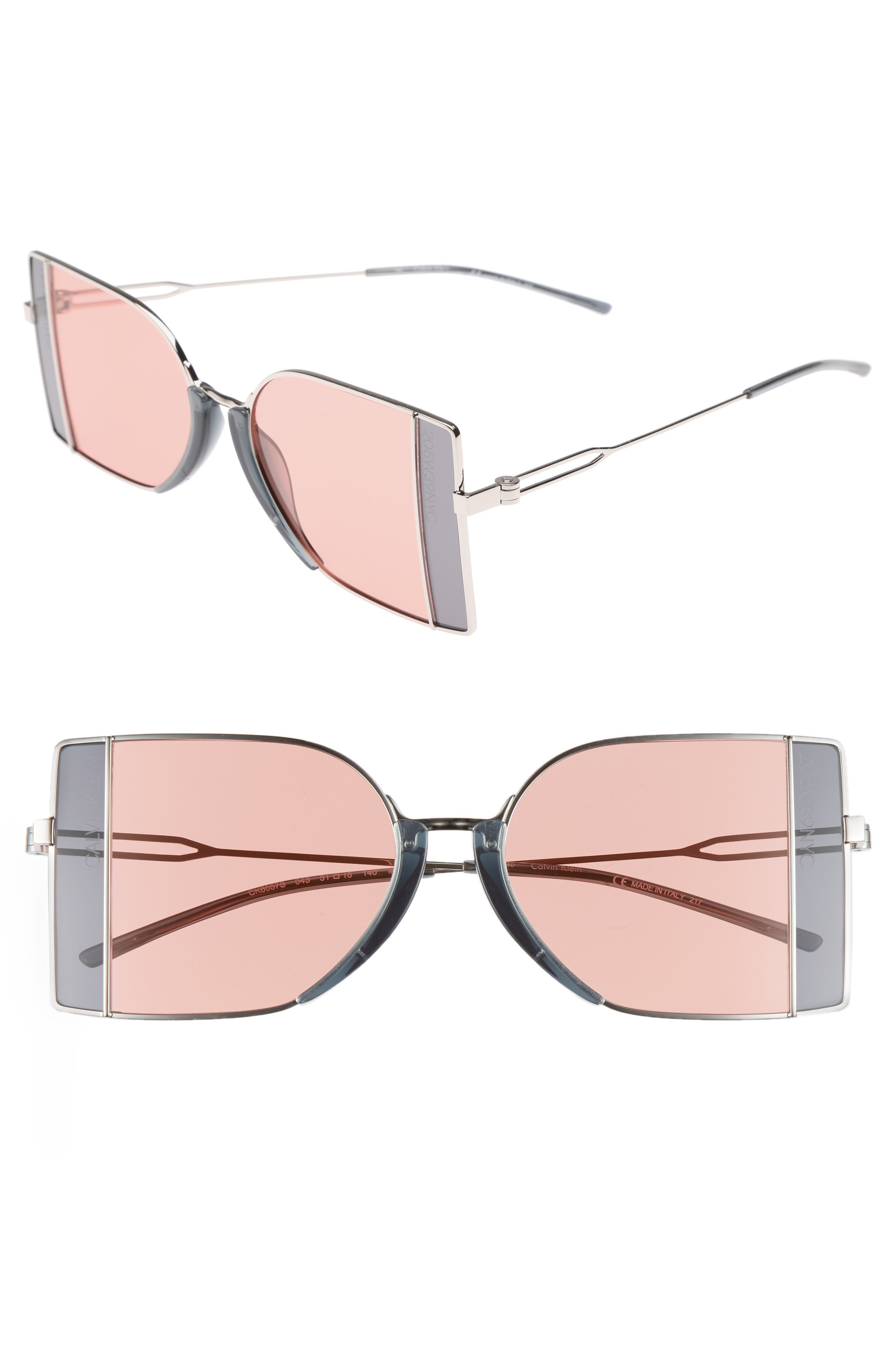 205W39NYC 51mm Butterfly Sunglasses,                             Main thumbnail 1, color,                             040