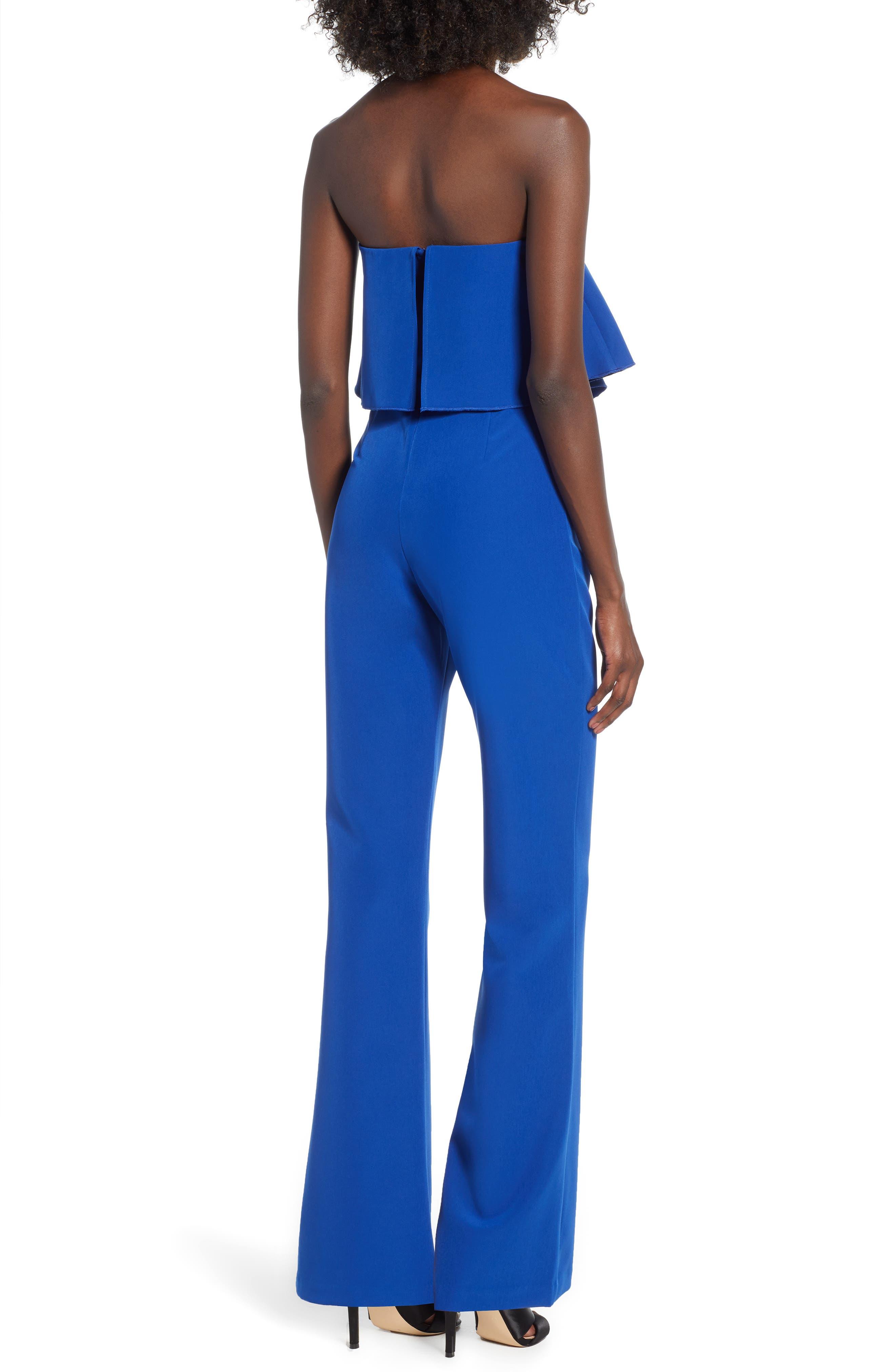 Popover Jumpsuit,                             Alternate thumbnail 2, color,                             BLUE MAZARINE