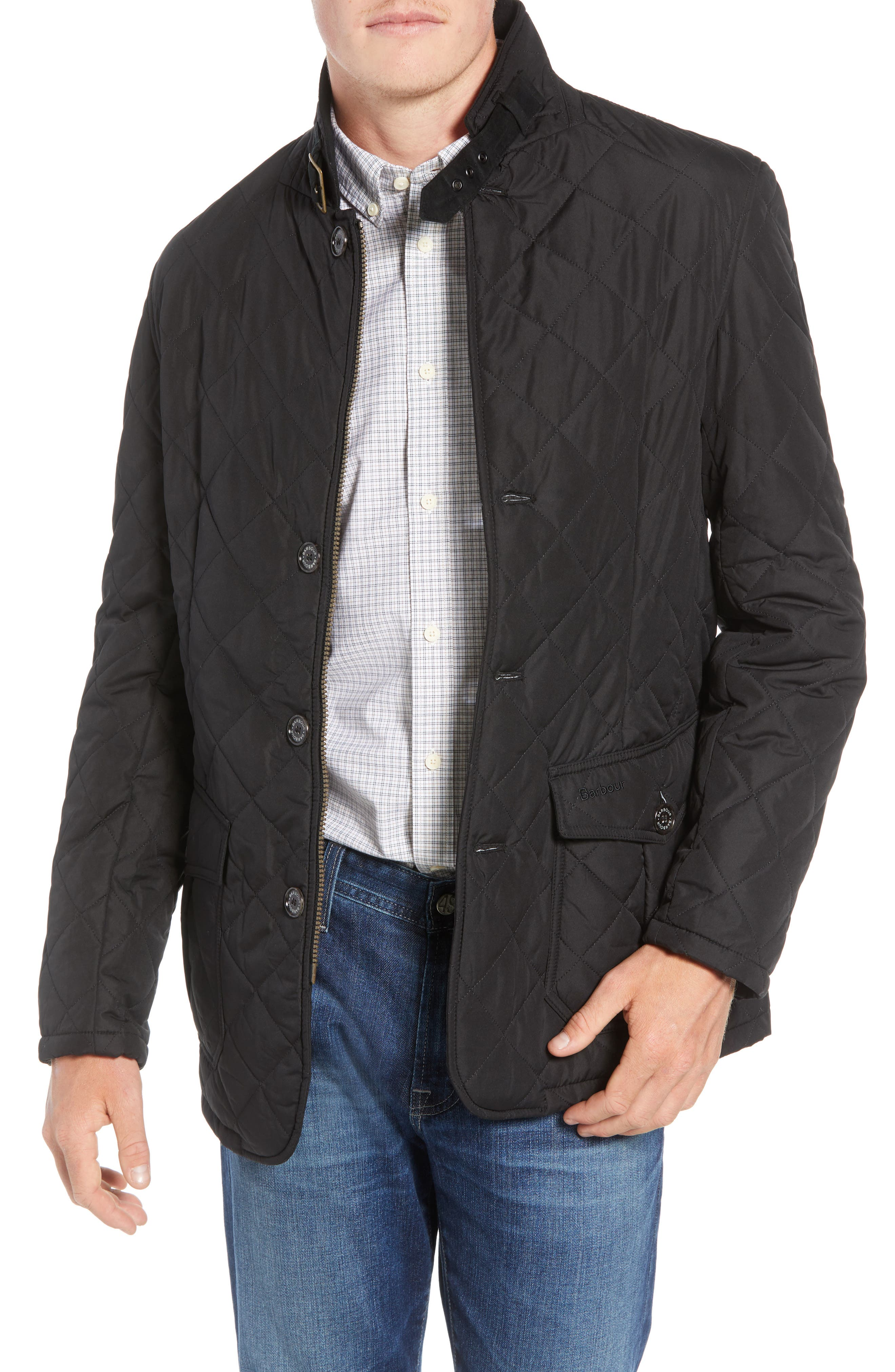 Barbour Lutz Quilted Jacket, Black