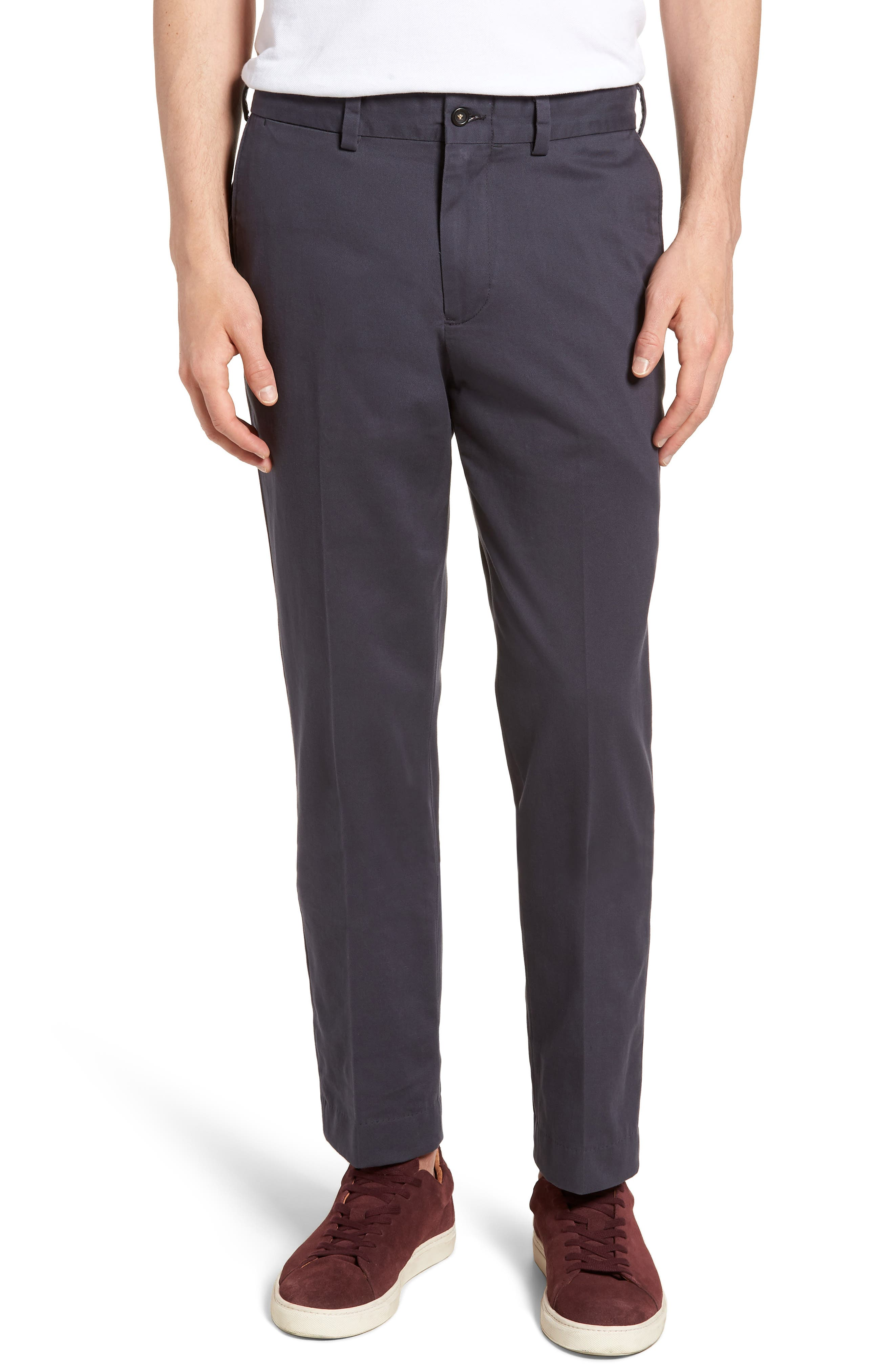 M3 Straight Fit Flat Front Vintage Twill Pants,                             Main thumbnail 1, color,