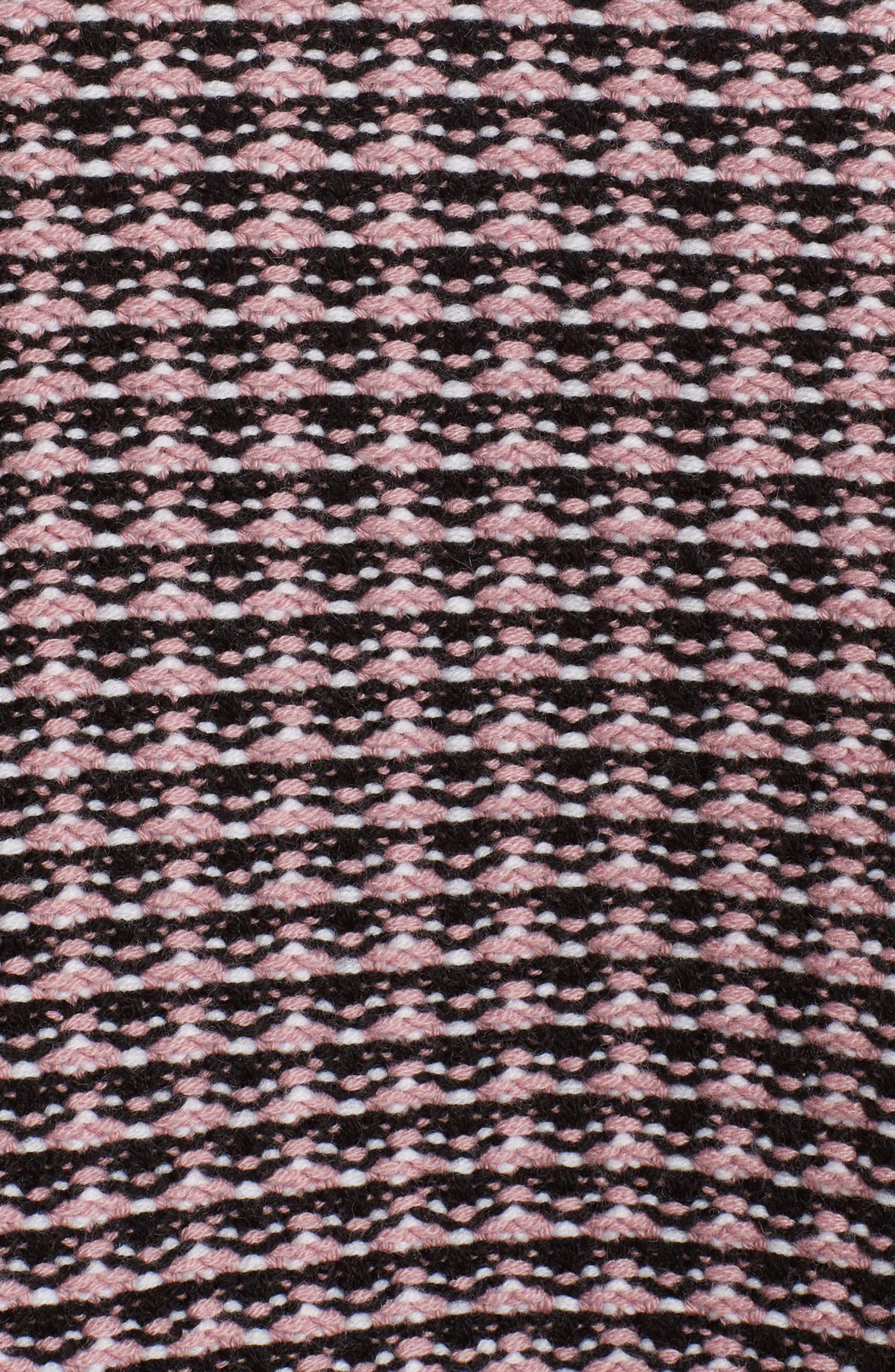 Microcheck Wool & Cashmere Sweater,                             Alternate thumbnail 5, color,                             ARUBA PINK