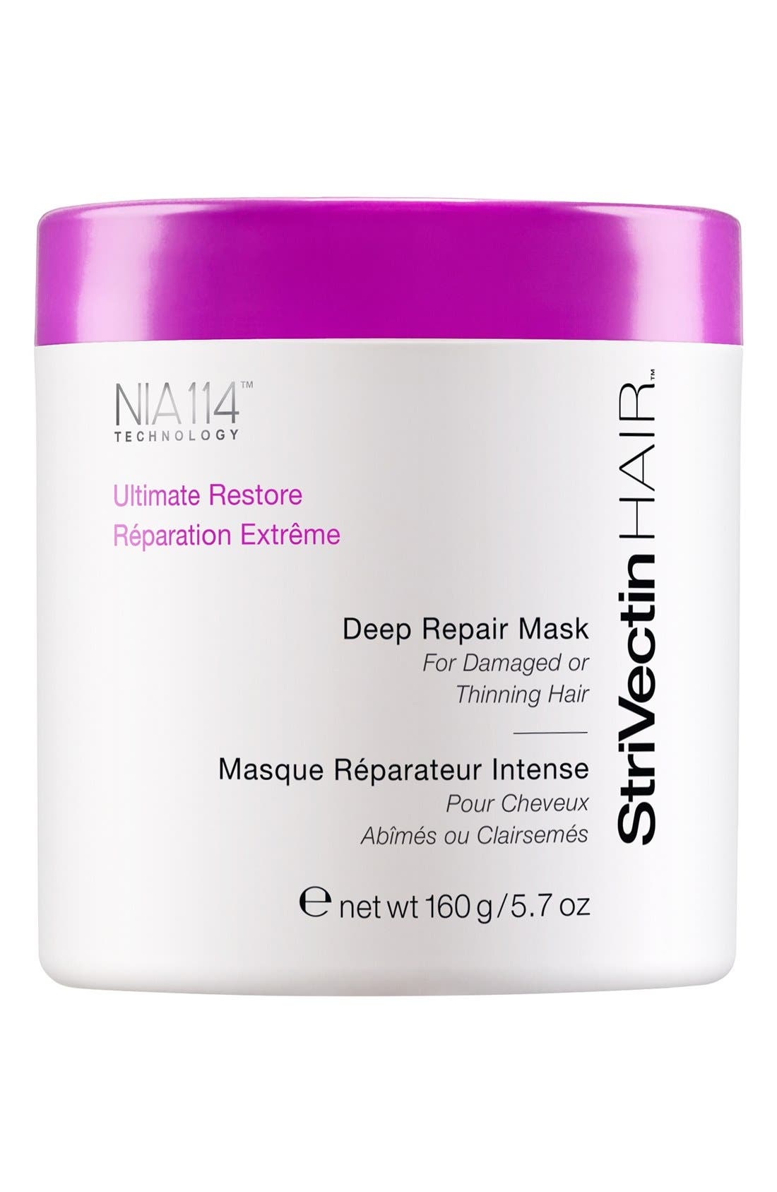 StriVectinHAIR<sup>™</sup> 'Ultimate Restore' Deep Repair Mask for Damaged or Thinning Hair,                         Main,                         color, 000