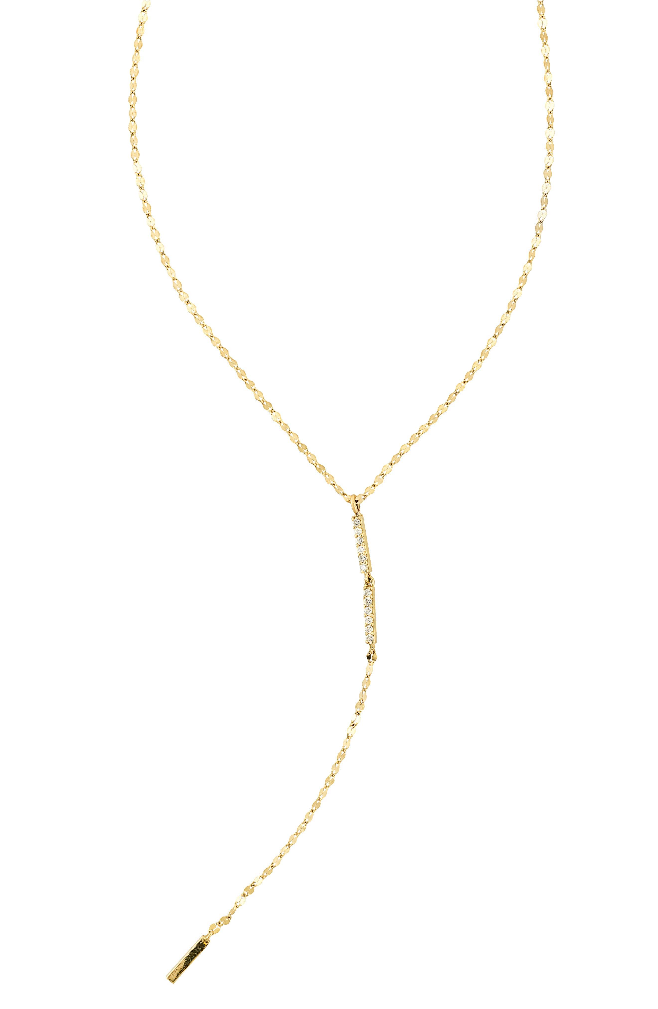 Diamond Bar Lariat Necklace,                         Main,                         color, 710