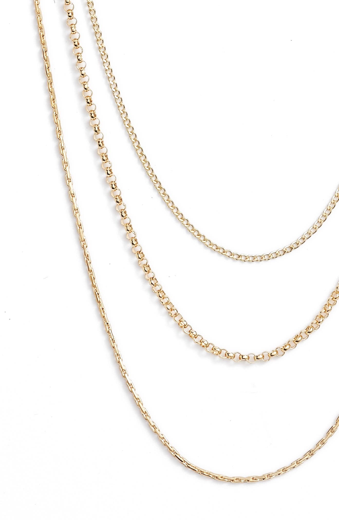 Multistrand Chain Necklace,                             Alternate thumbnail 3, color,