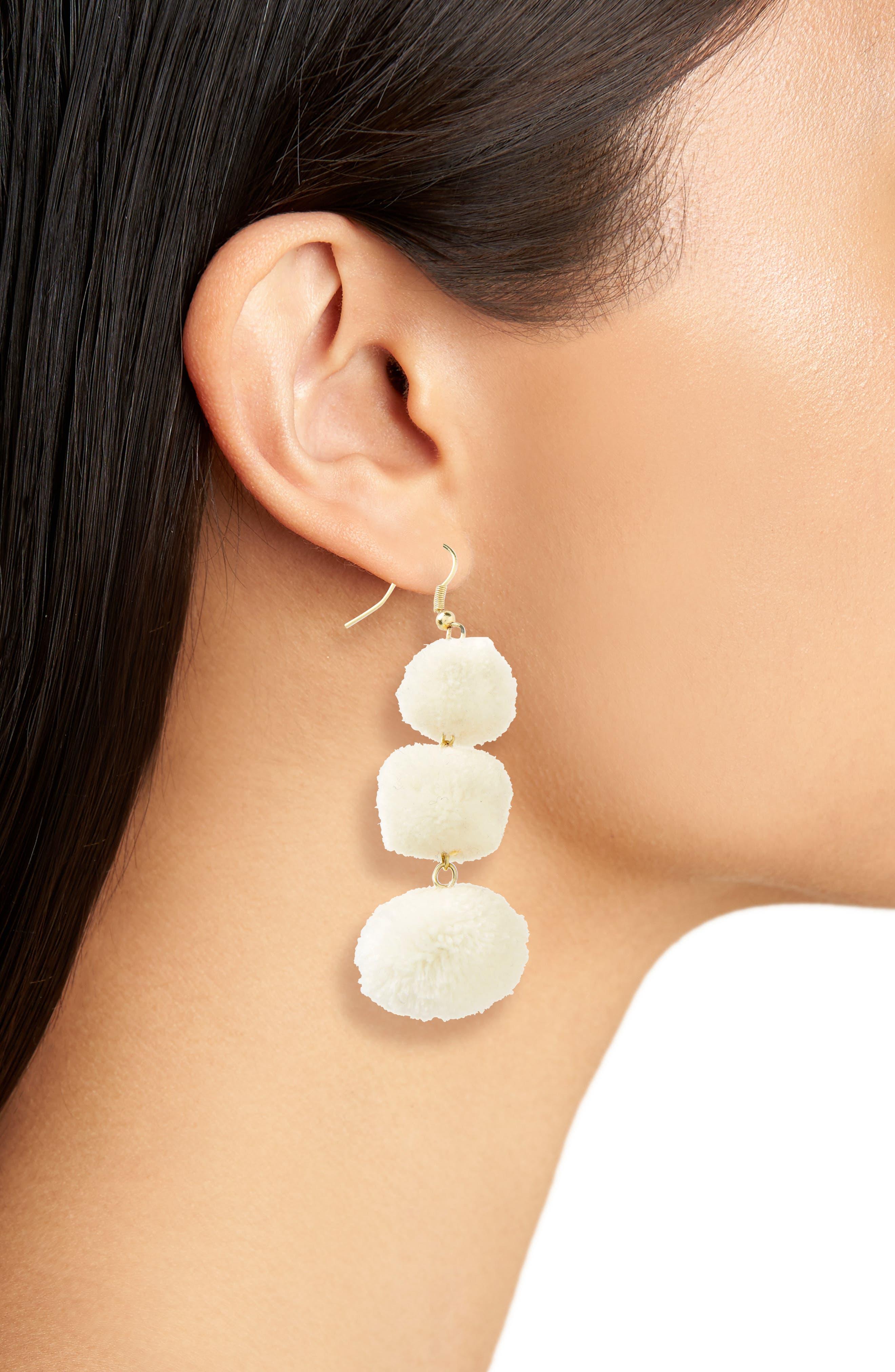 January Pom Earrings,                             Alternate thumbnail 6, color,