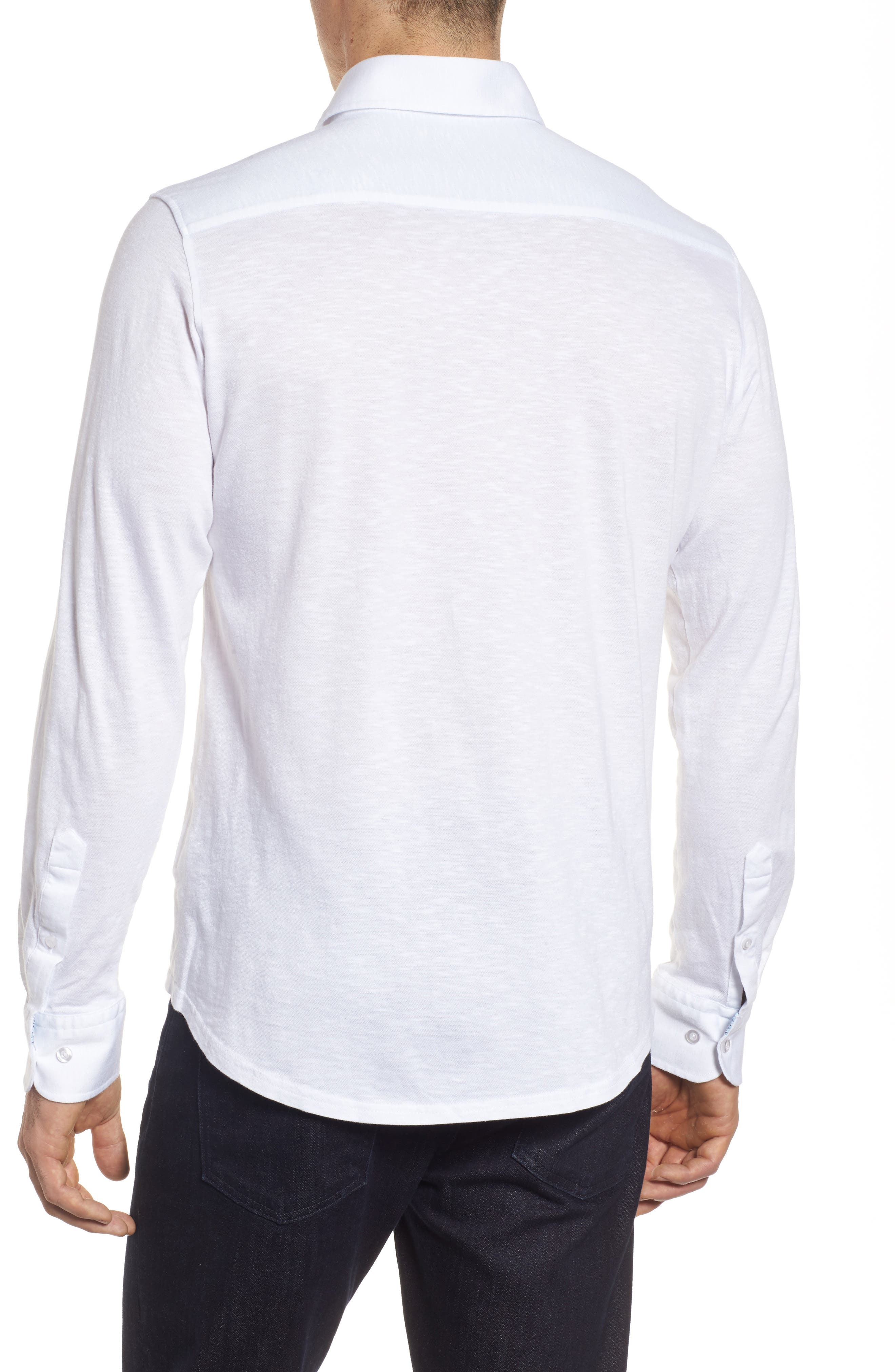 Slub Knit Sport Shirt,                             Alternate thumbnail 2, color,                             100
