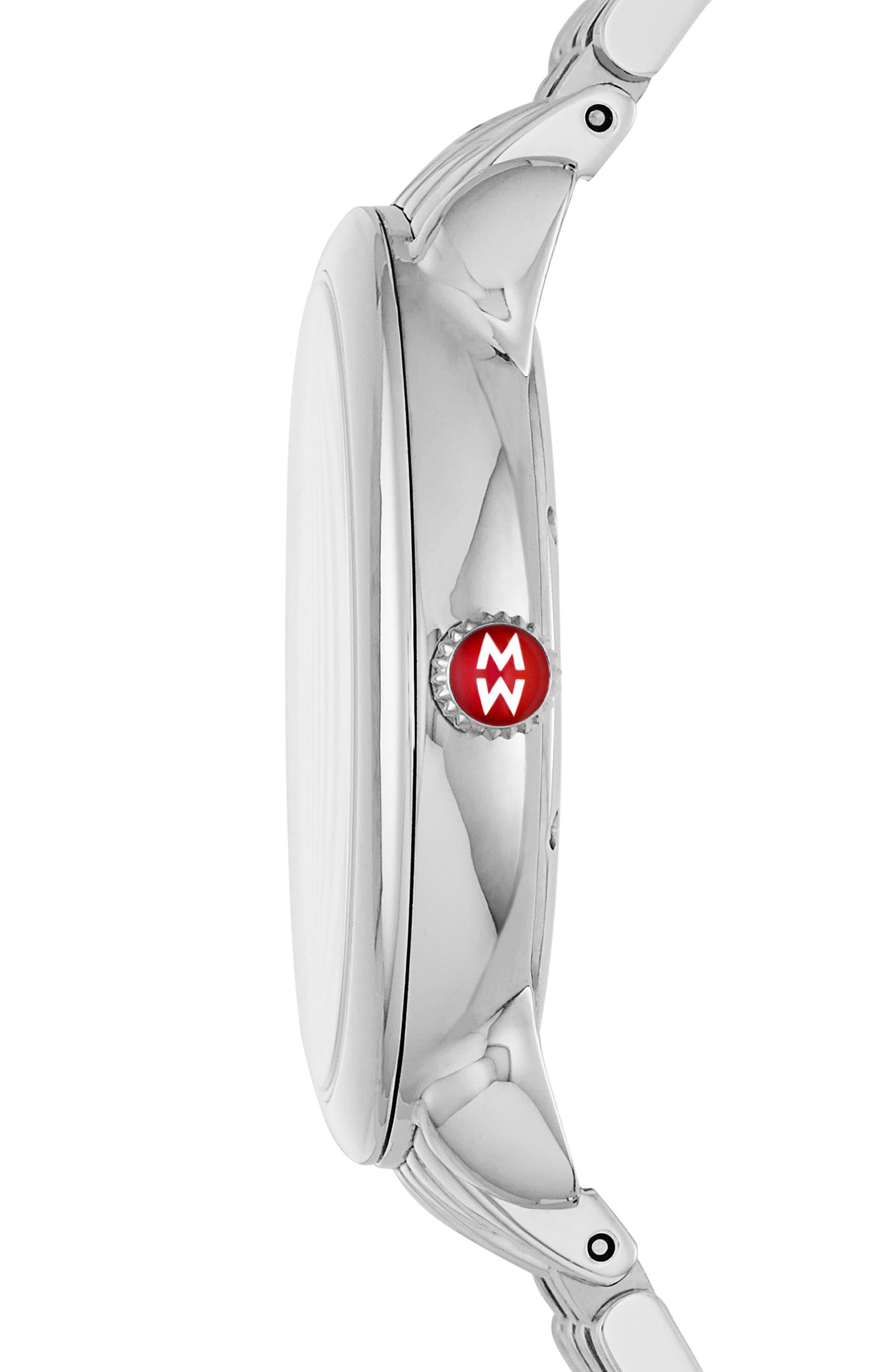 Serein Mid Diamond Teal Watch Head, 40mm x 38mm,                             Alternate thumbnail 2, color,                             040