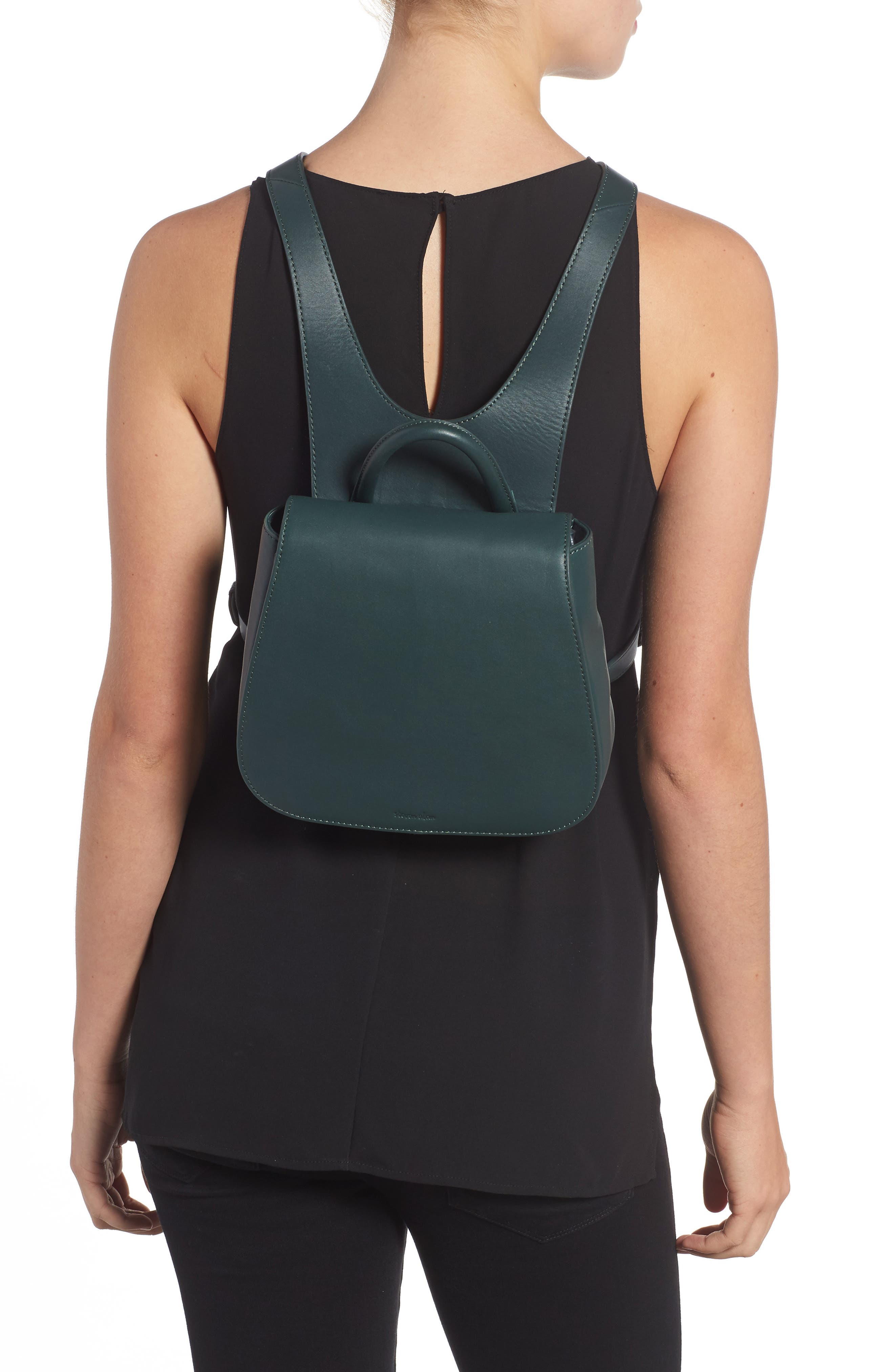 Small Kate Convertible Leather Backpack,                             Alternate thumbnail 2, color,                             300