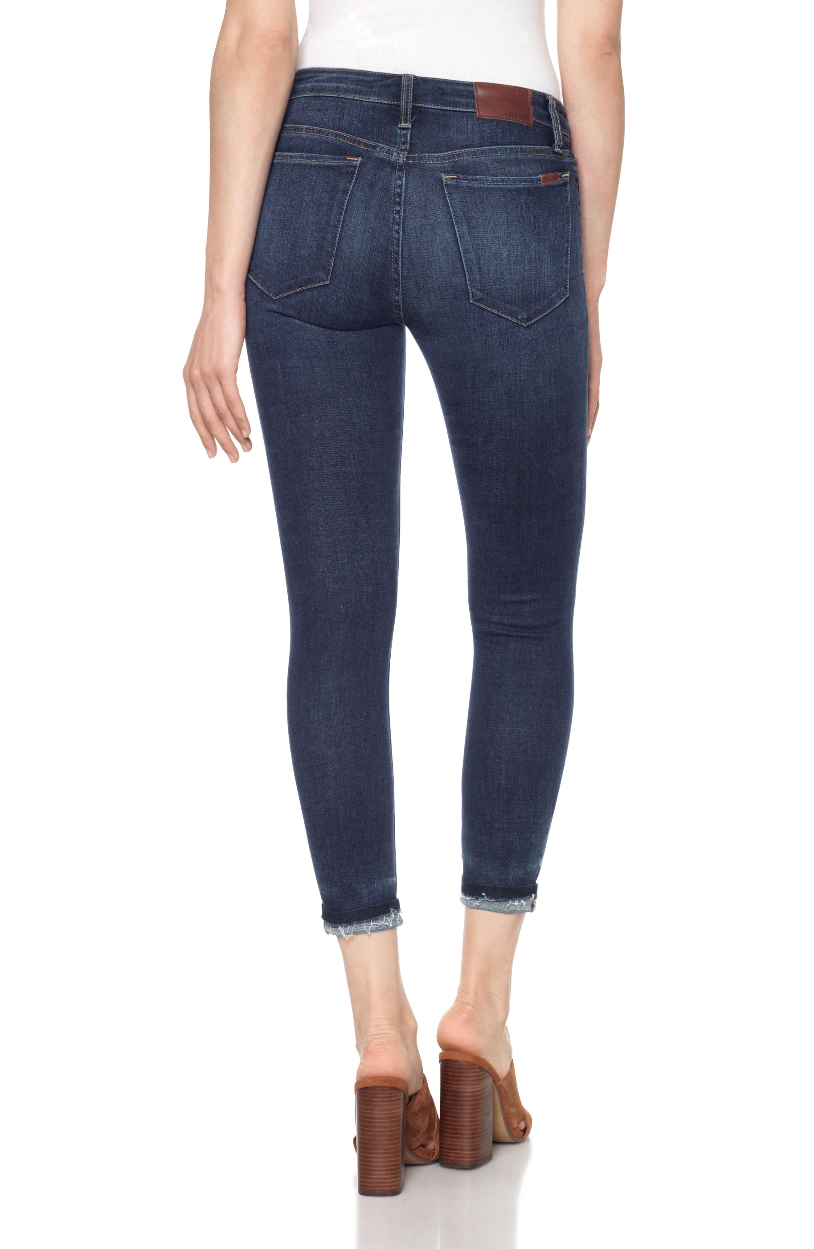 Markie High Rise Crop Skinny Jeans,                             Alternate thumbnail 2, color,                             400
