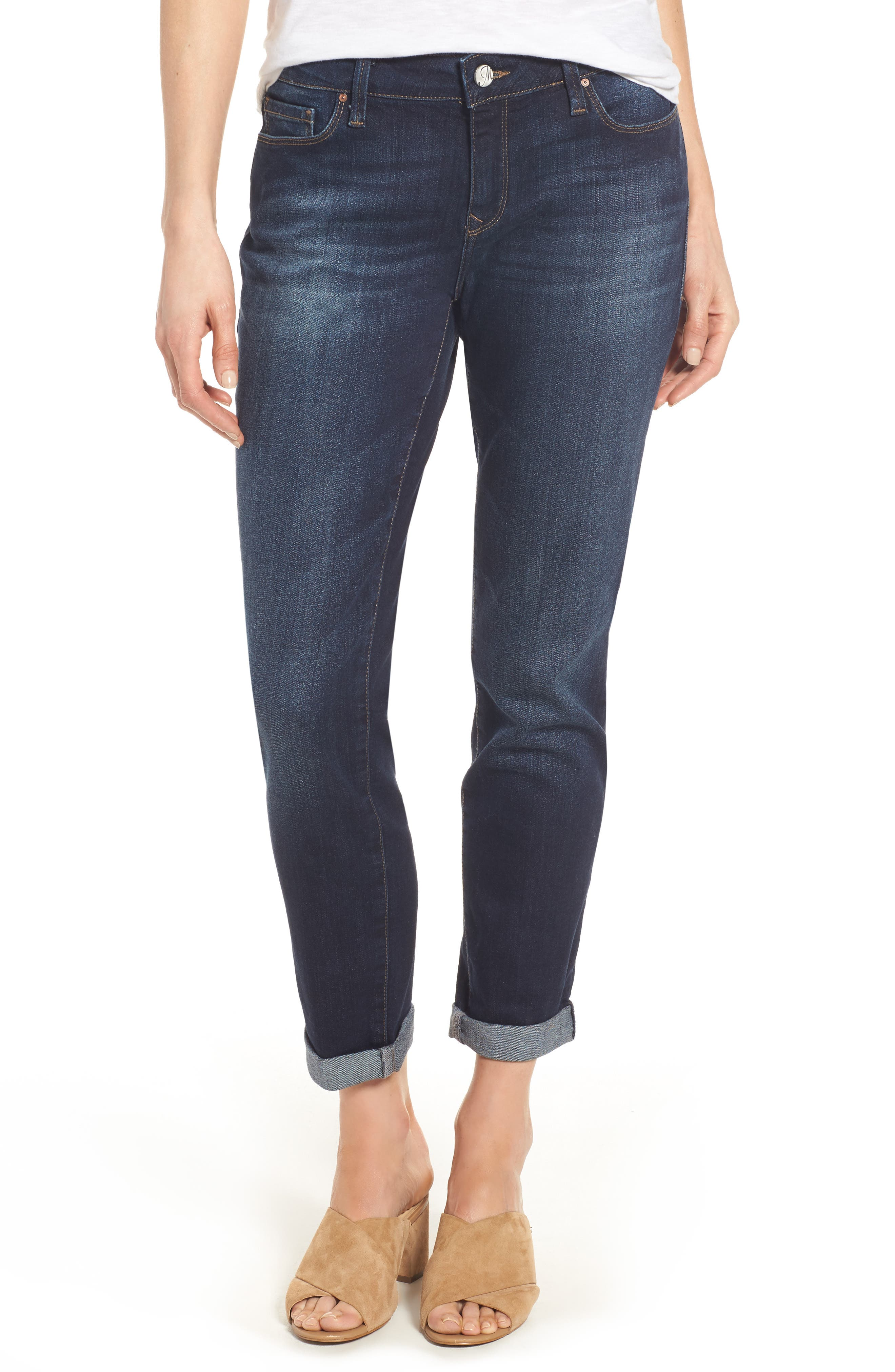Ada Boyfriend Jeans,                             Main thumbnail 1, color,                             INDIGO BRUSHED