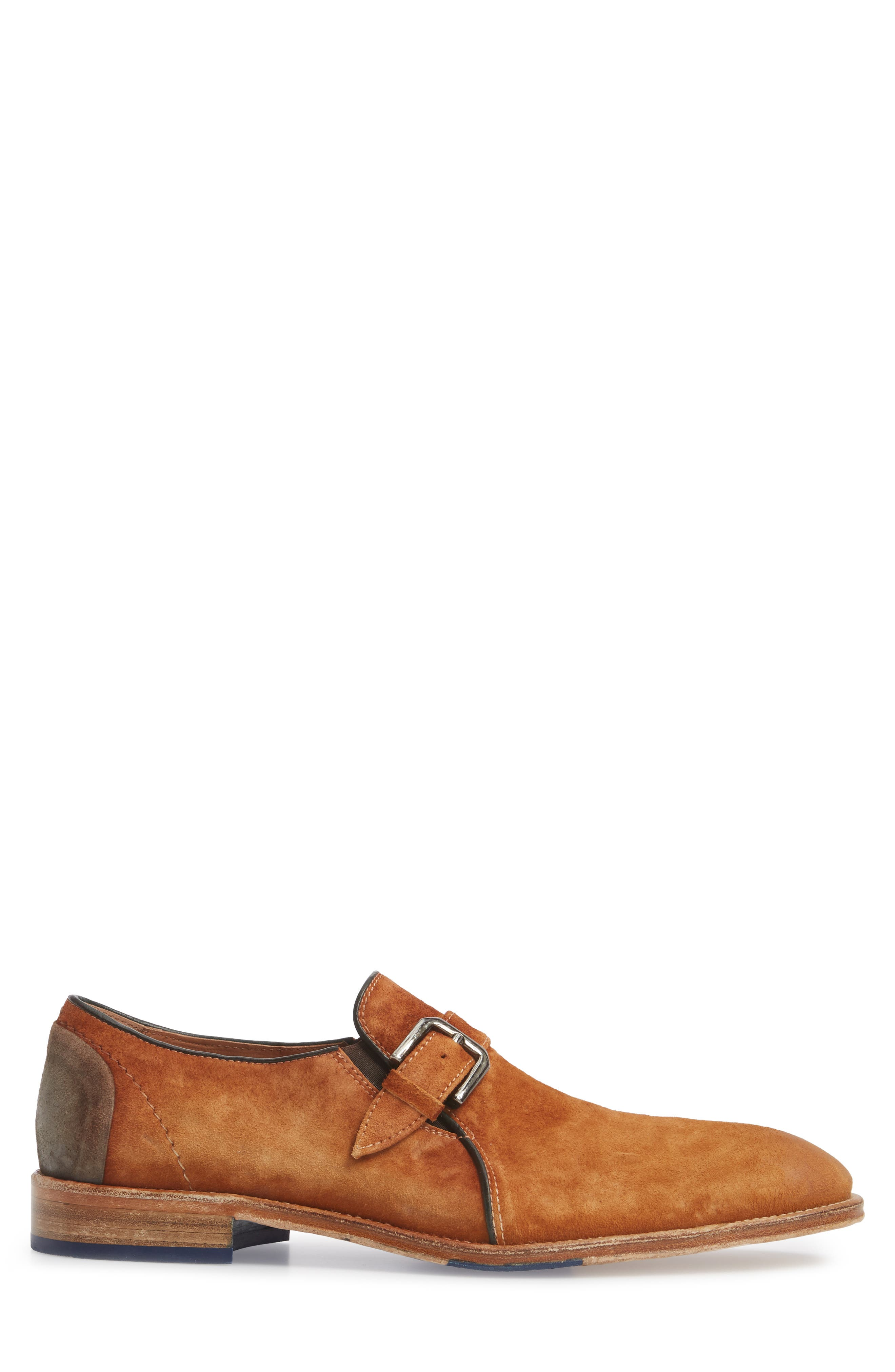 Alex Single Buckle Monk Shoe,                             Alternate thumbnail 3, color,