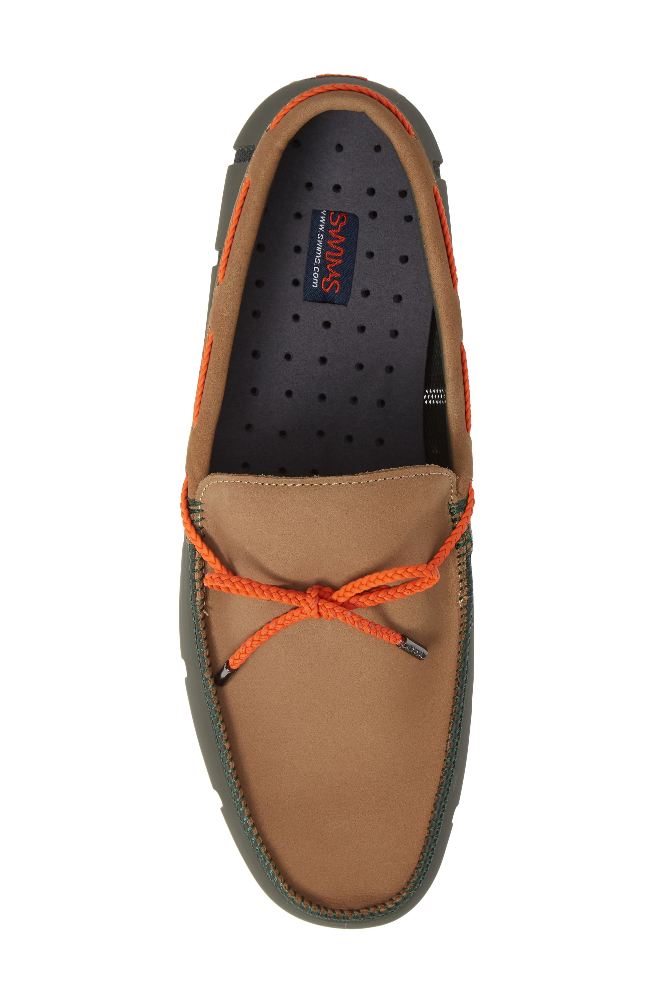 SWIMS,                             Lux Driving Loafer,                             Alternate thumbnail 5, color,                             OLIVE/ GAUCHO/ GUM
