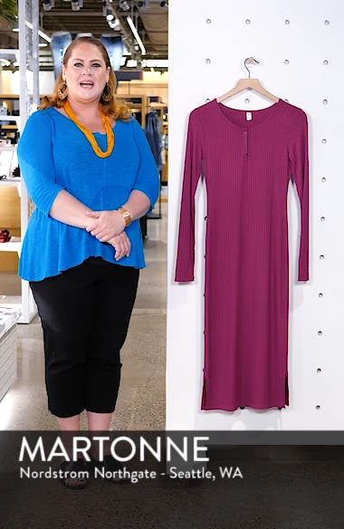 Ribbed Henley Midi Dress, sales video thumbnail