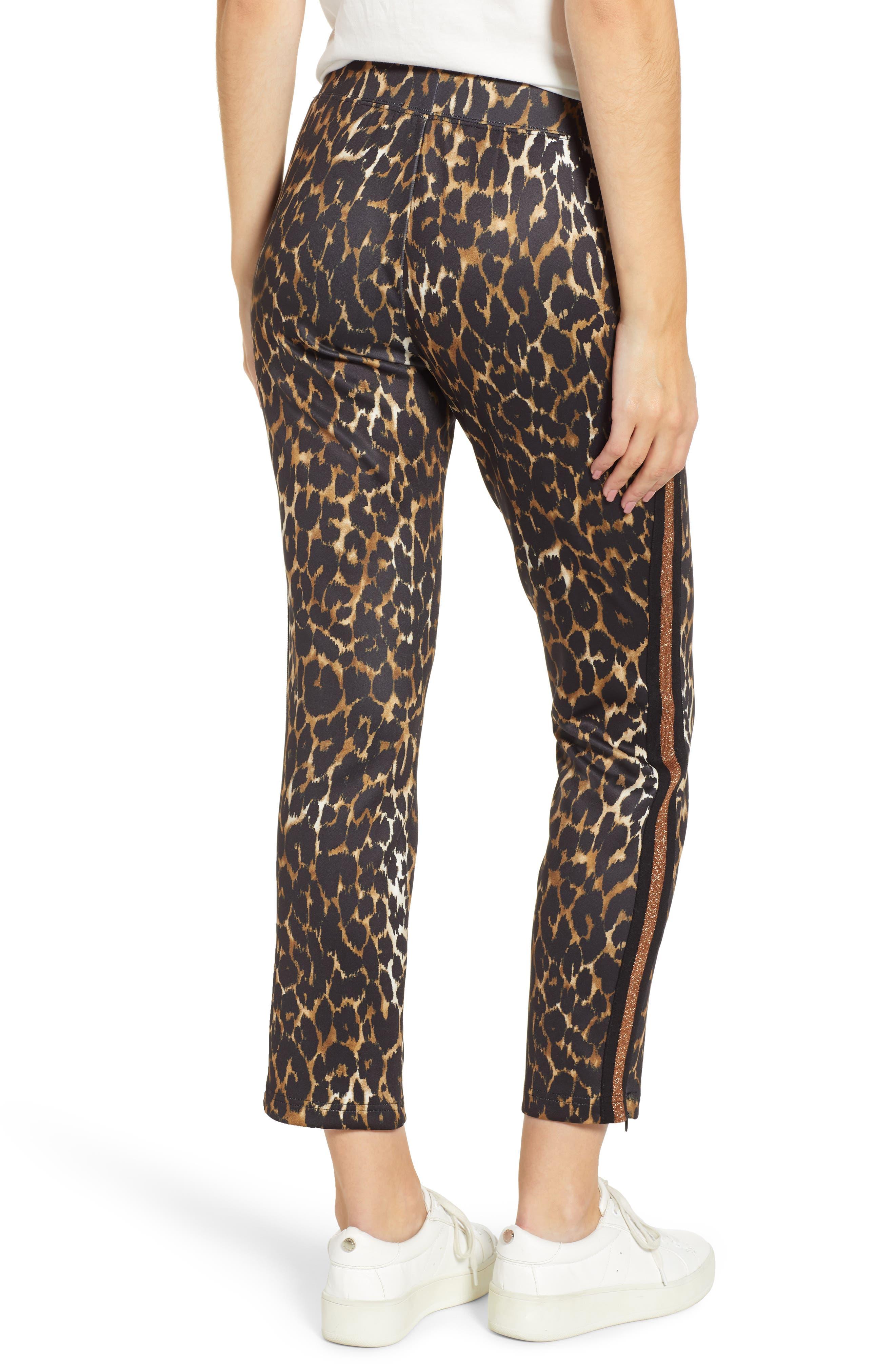 Leopard Track Pants,                             Alternate thumbnail 2, color,                             LEOPARD