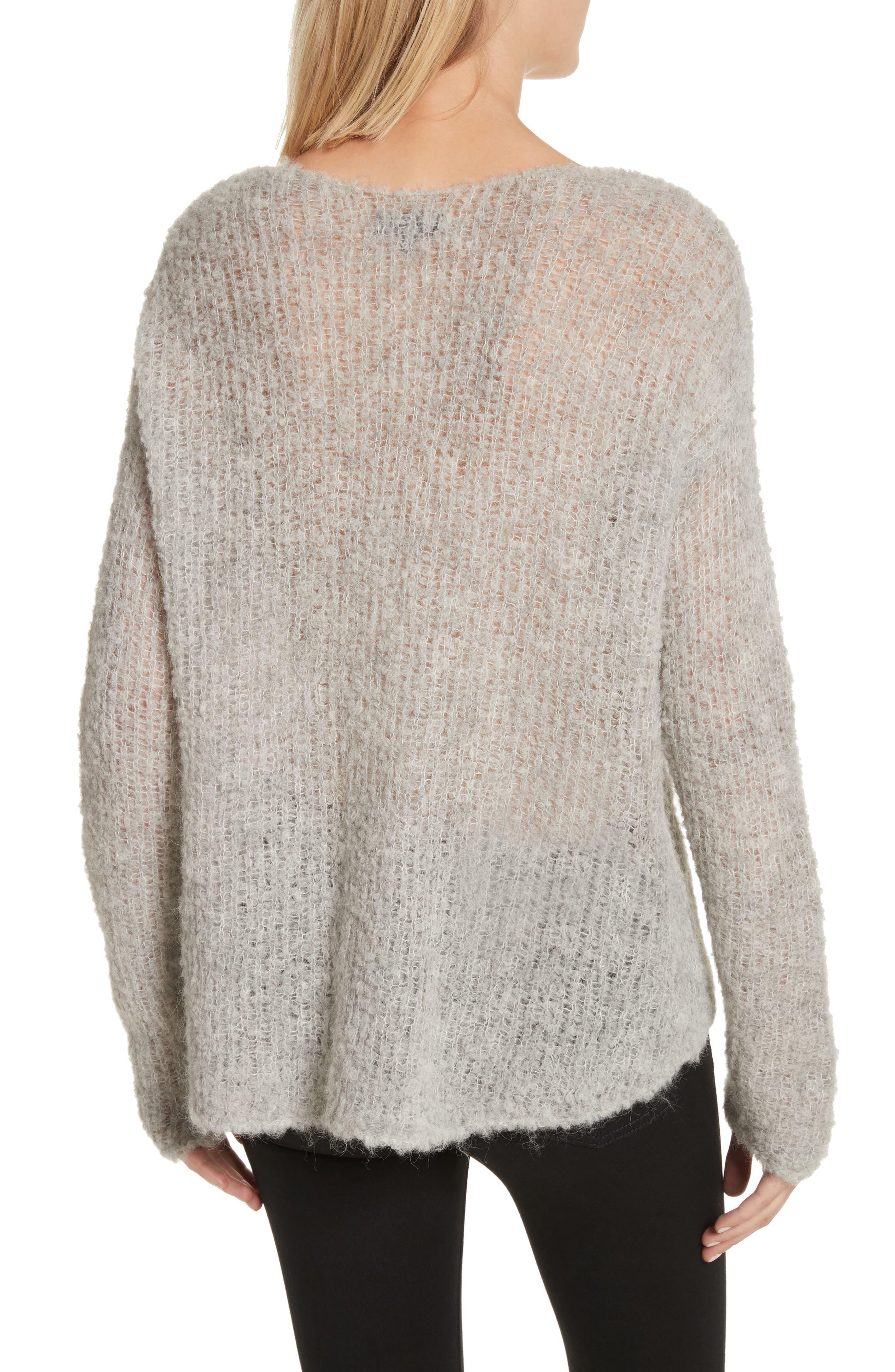 Freda Alpaca Blend Sweater,                             Alternate thumbnail 4, color,