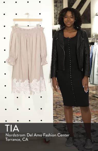 Hudson Off the Shoulder Lace Hem Linen Dress, sales video thumbnail