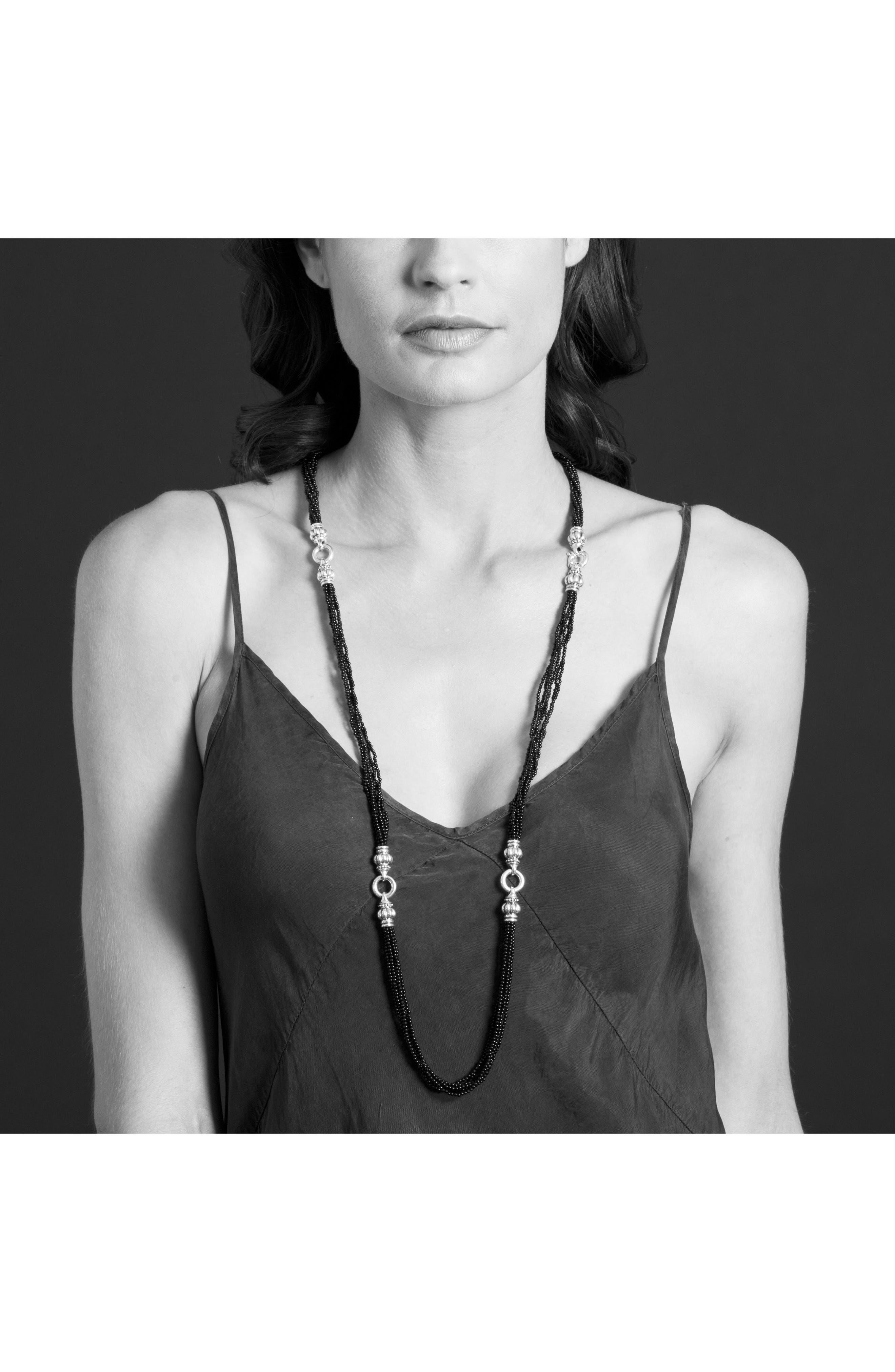 Luna Pearl Convertible Bracelet & Necklace,                             Alternate thumbnail 3, color,                             040