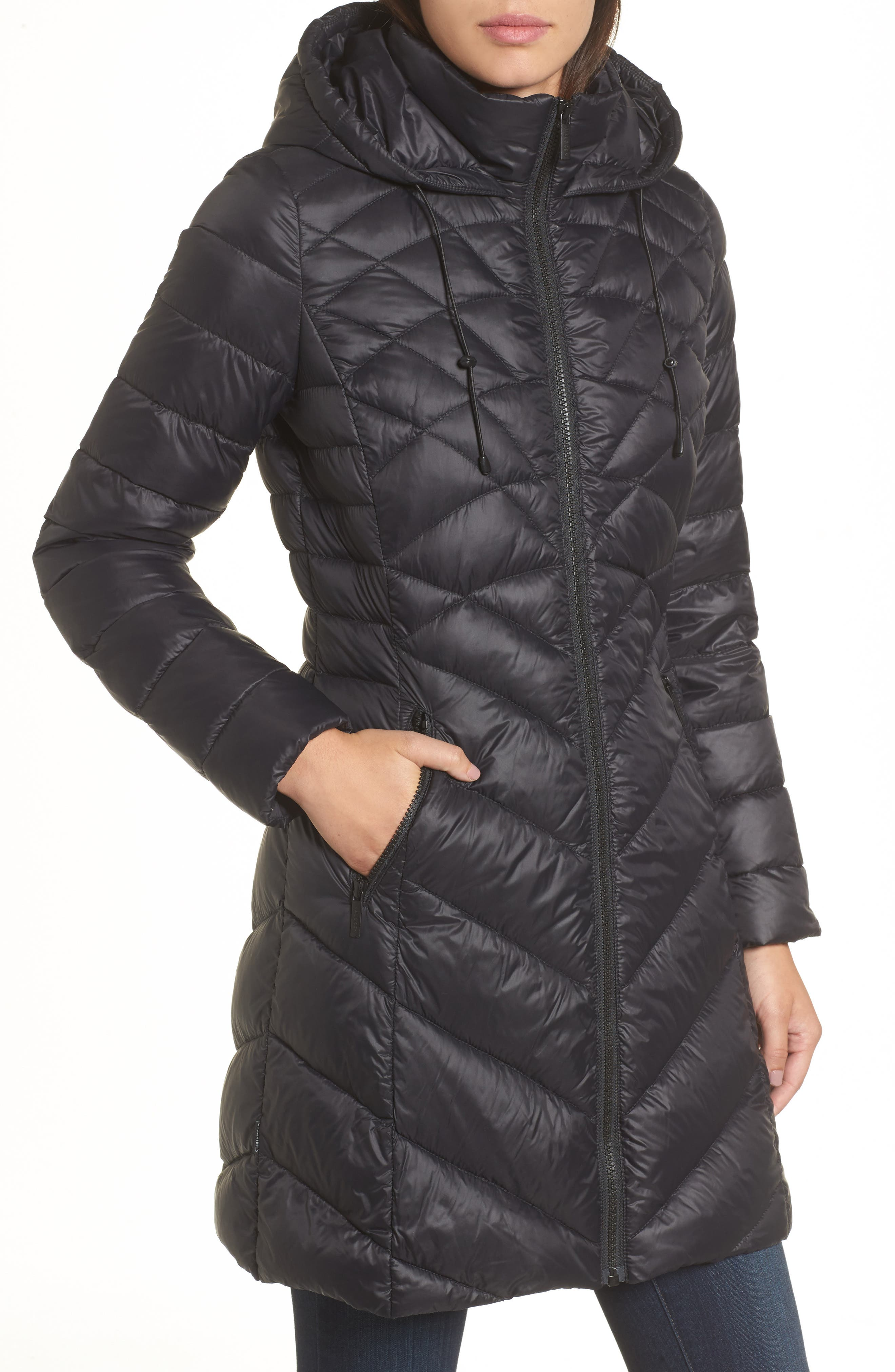 Hooded Down Puffer Jacket,                             Alternate thumbnail 4, color,                             001