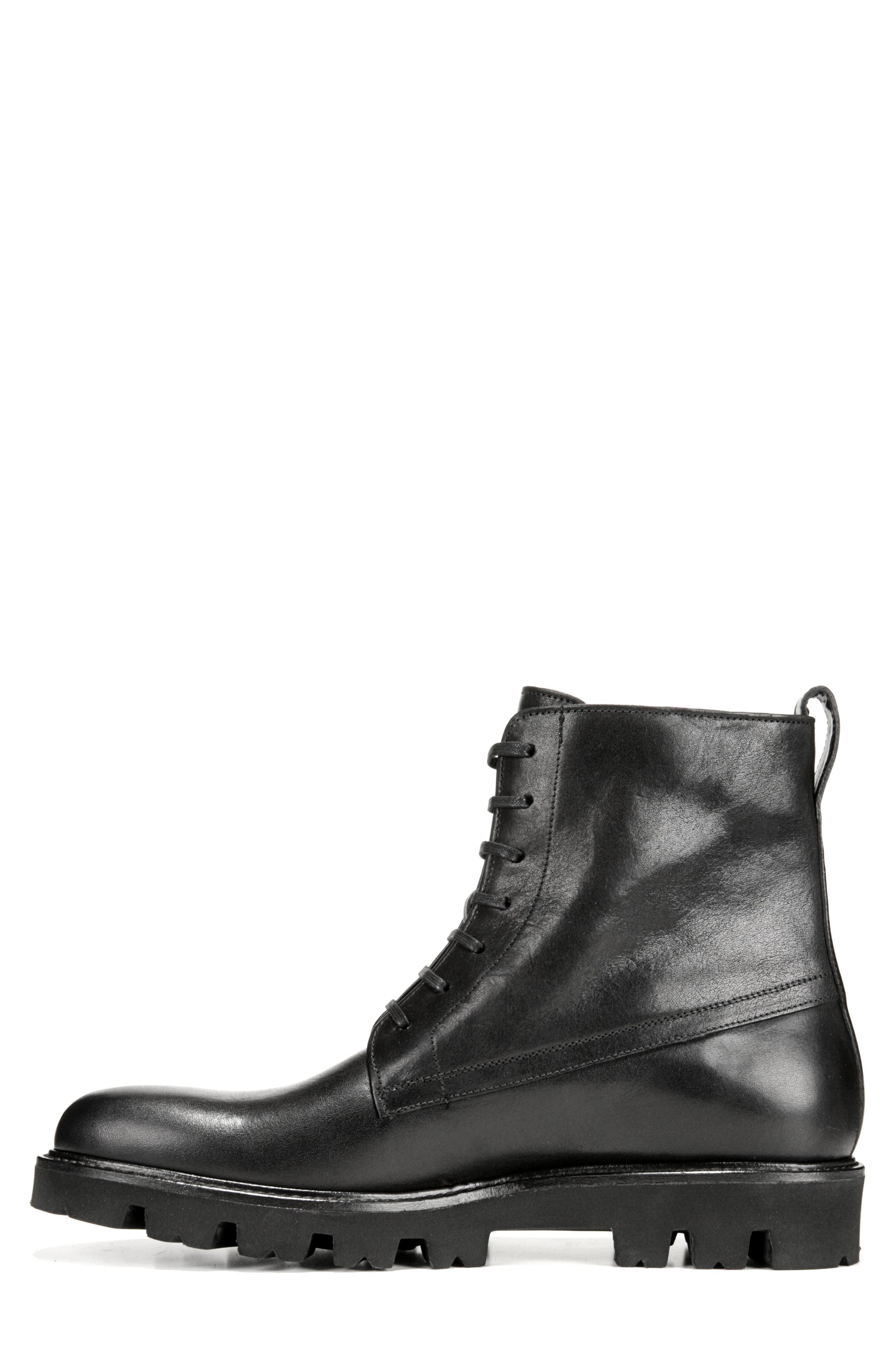 Commander Plain Toe Boot,                             Alternate thumbnail 8, color,                             BLACK