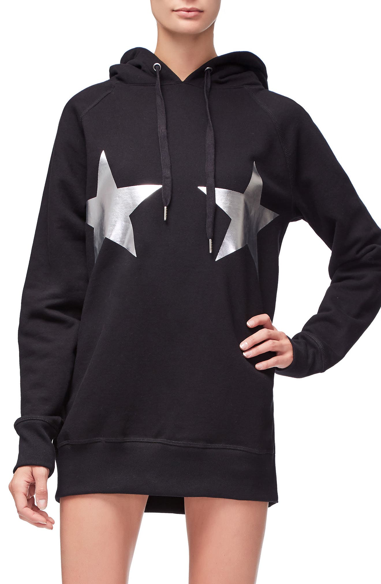 Goodies Stars & Stripes Hoodie,                             Main thumbnail 1, color,                             BLACK