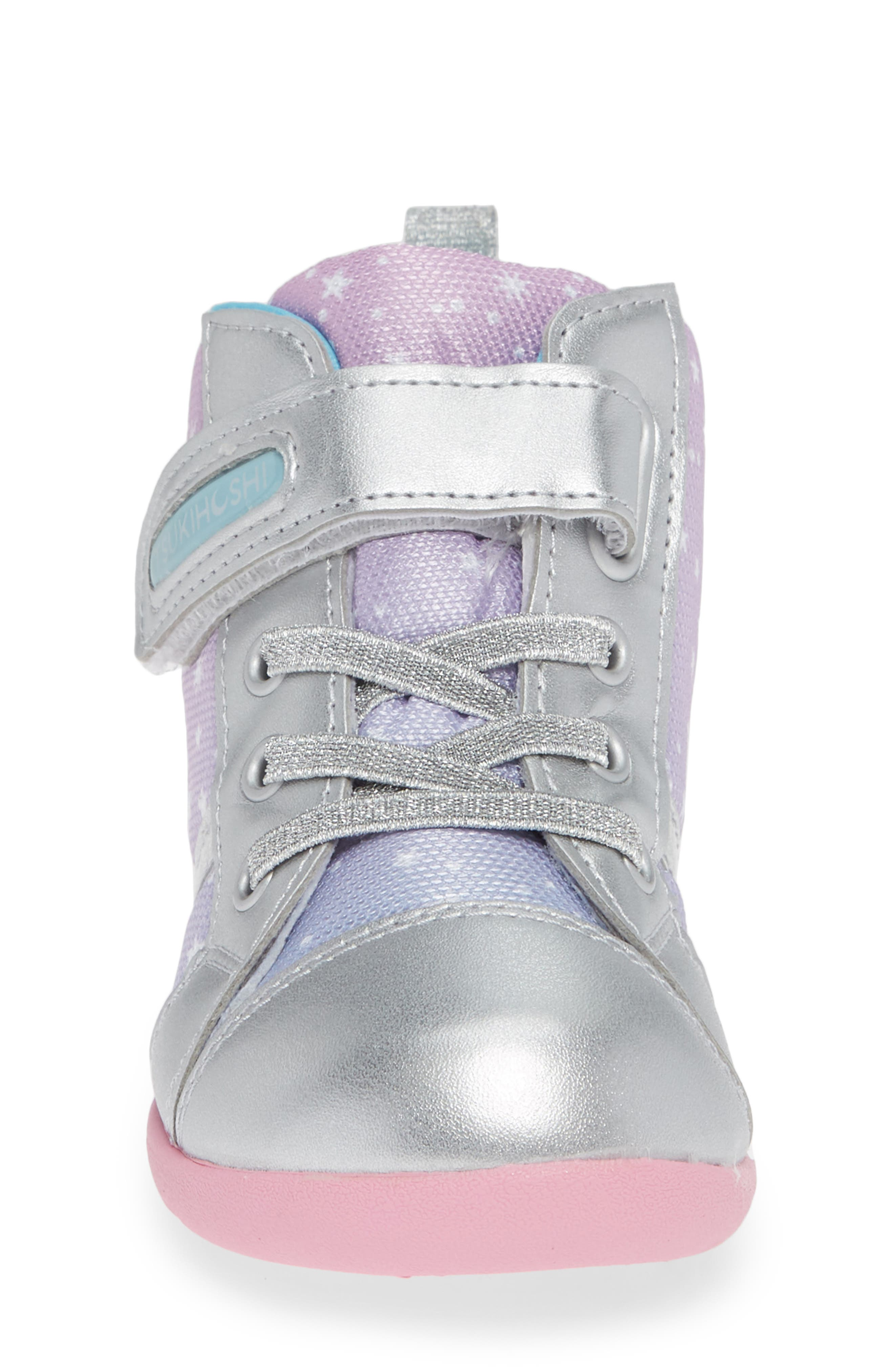 Star Washable Sneaker,                             Alternate thumbnail 4, color,                             SILVER/ PINK