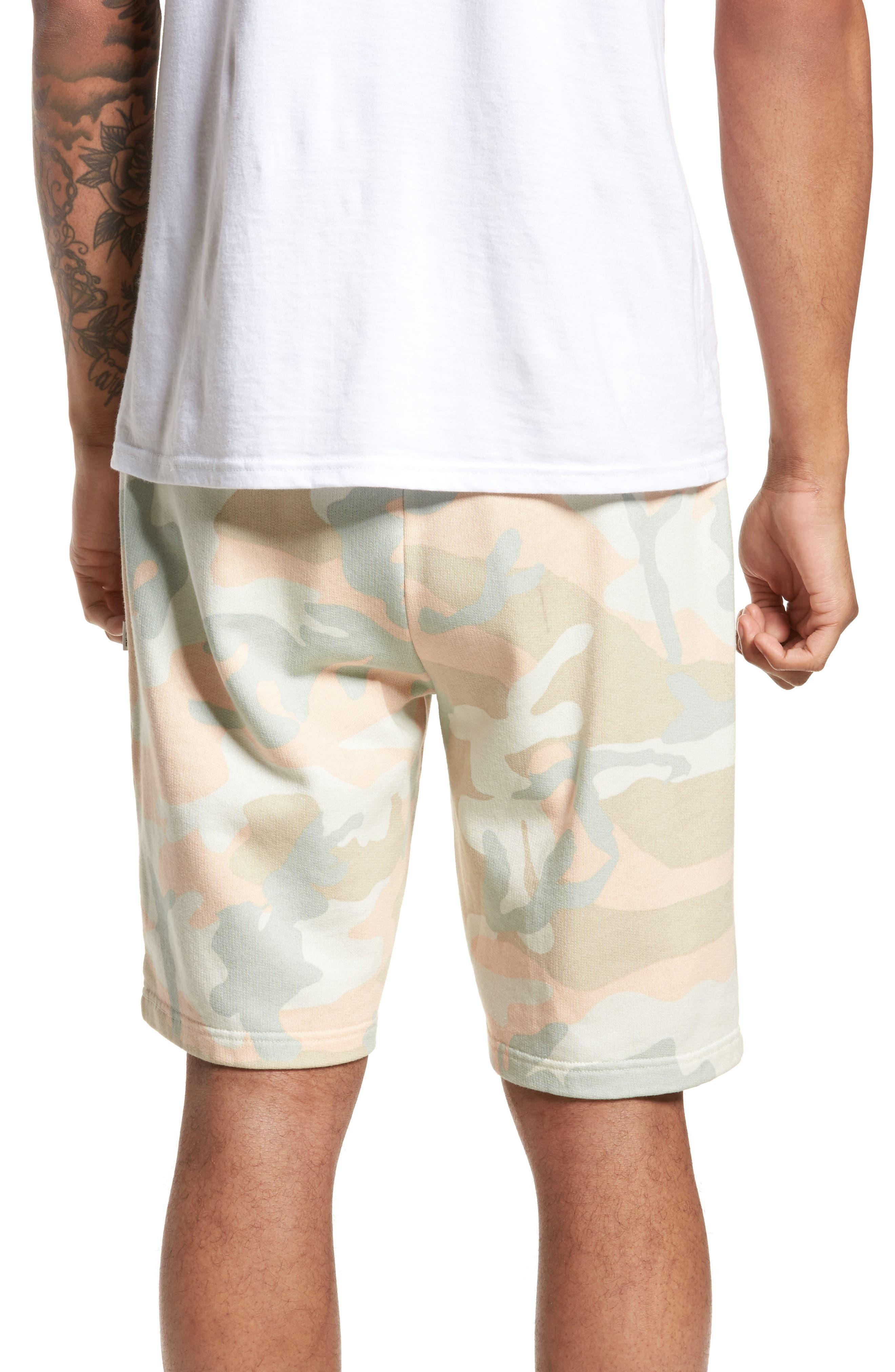 Marty Pastel Camo Fleece Shorts,                             Alternate thumbnail 2, color,                             650