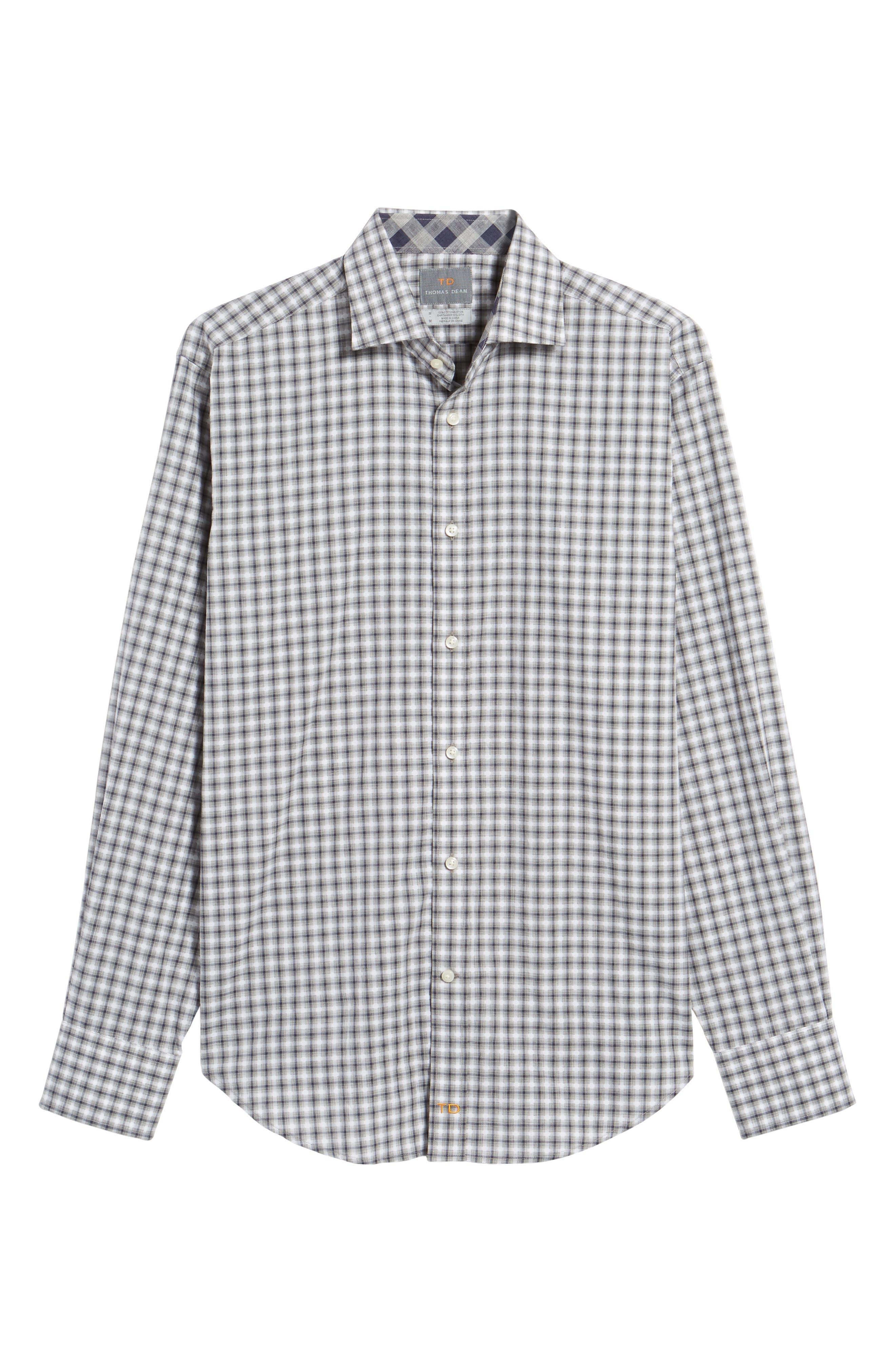 Regular Fit Gradient Check Sport Shirt,                             Alternate thumbnail 6, color,                             020