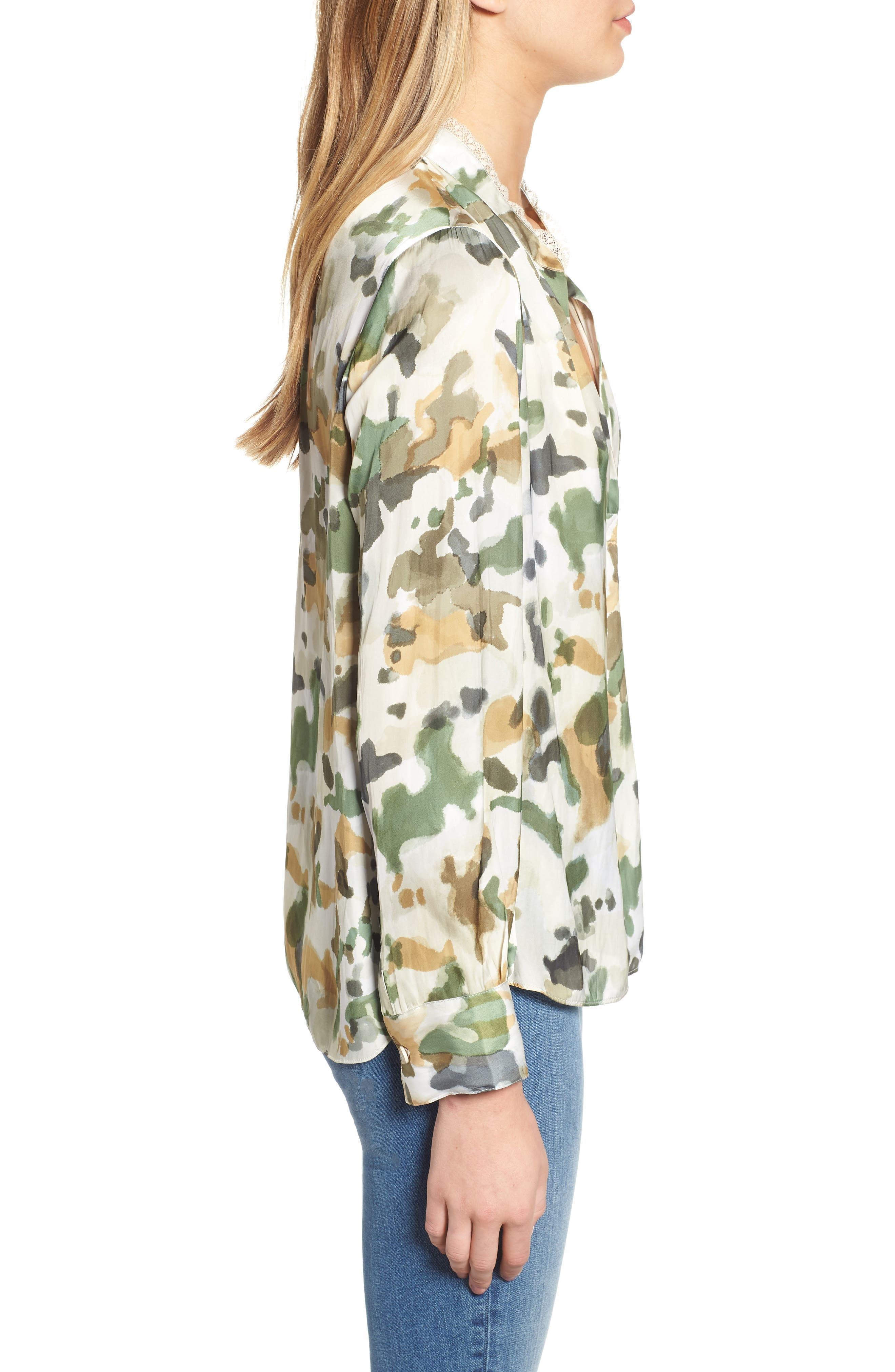 Tink Camouflage Top,                             Alternate thumbnail 3, color,                             BEIGE