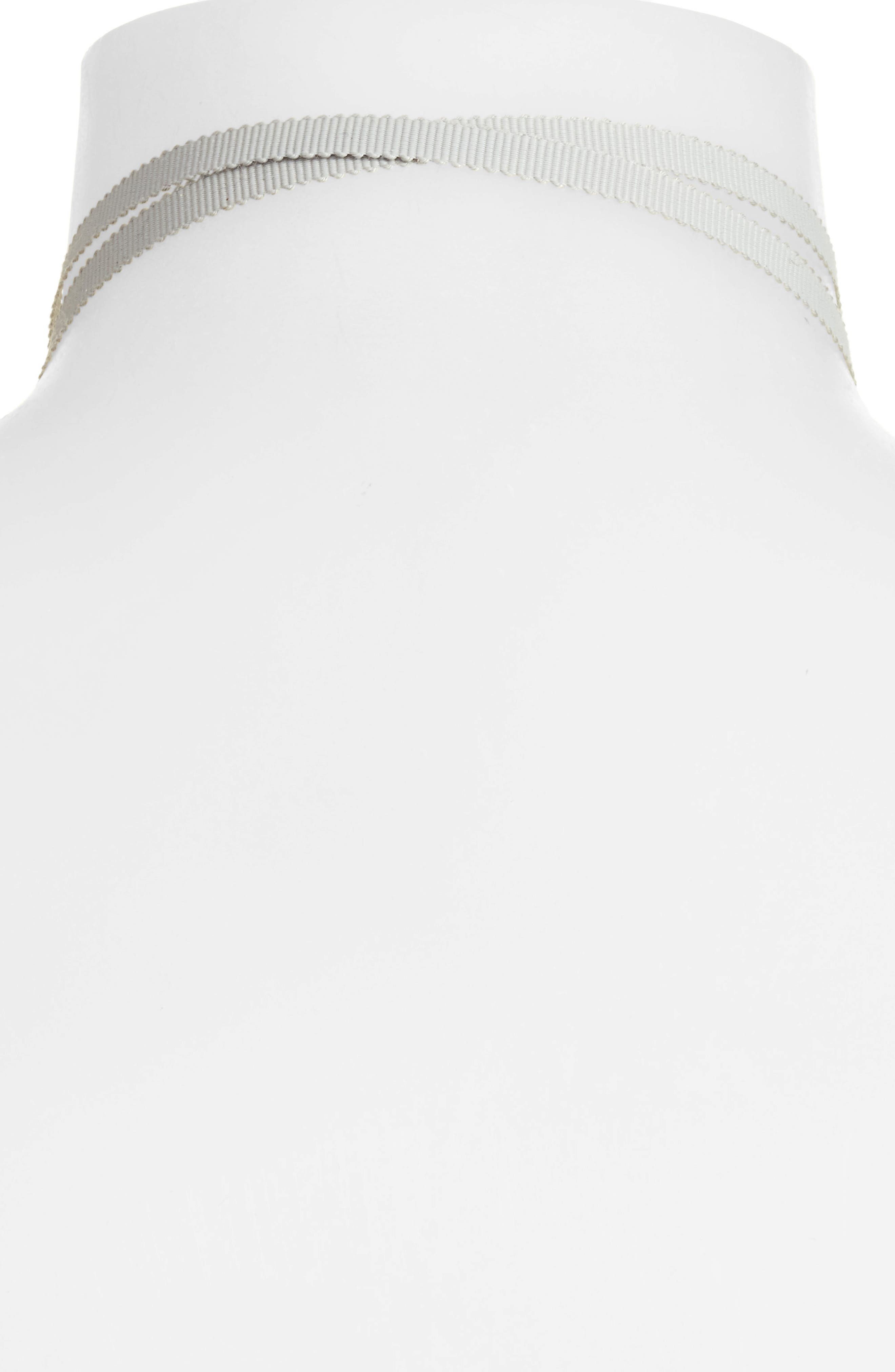Tie Choker Necklace,                             Alternate thumbnail 4, color,