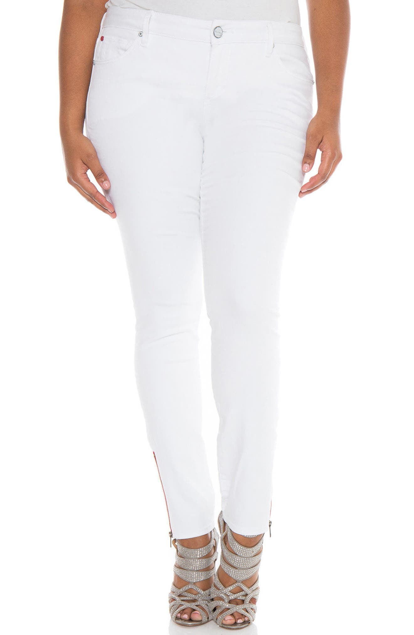 Ankle Zip Skinny Jeans,                             Main thumbnail 1, color,                             JOSIE
