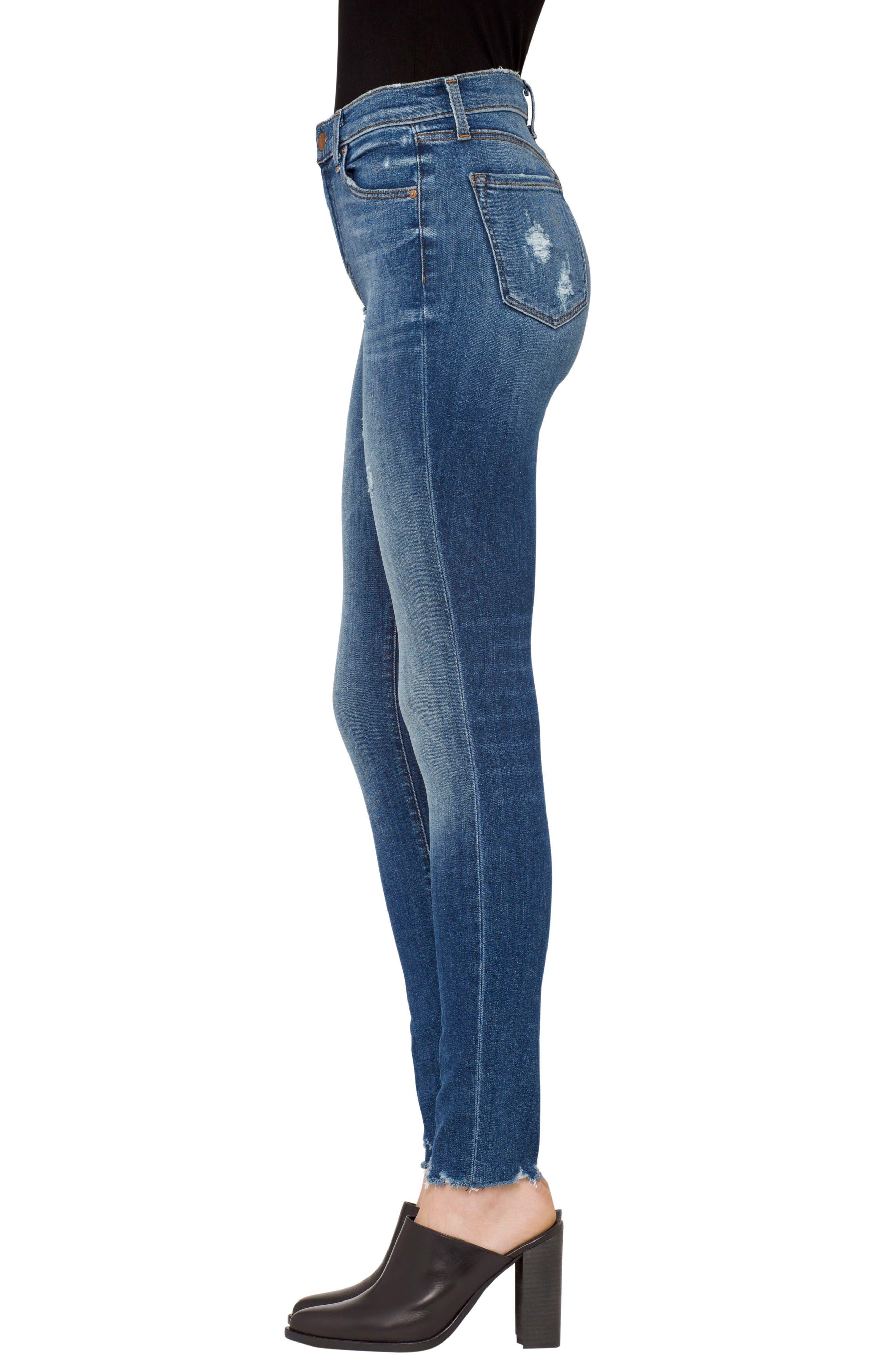 Maria High Waist Skinny Jeans,                             Alternate thumbnail 3, color,                             429
