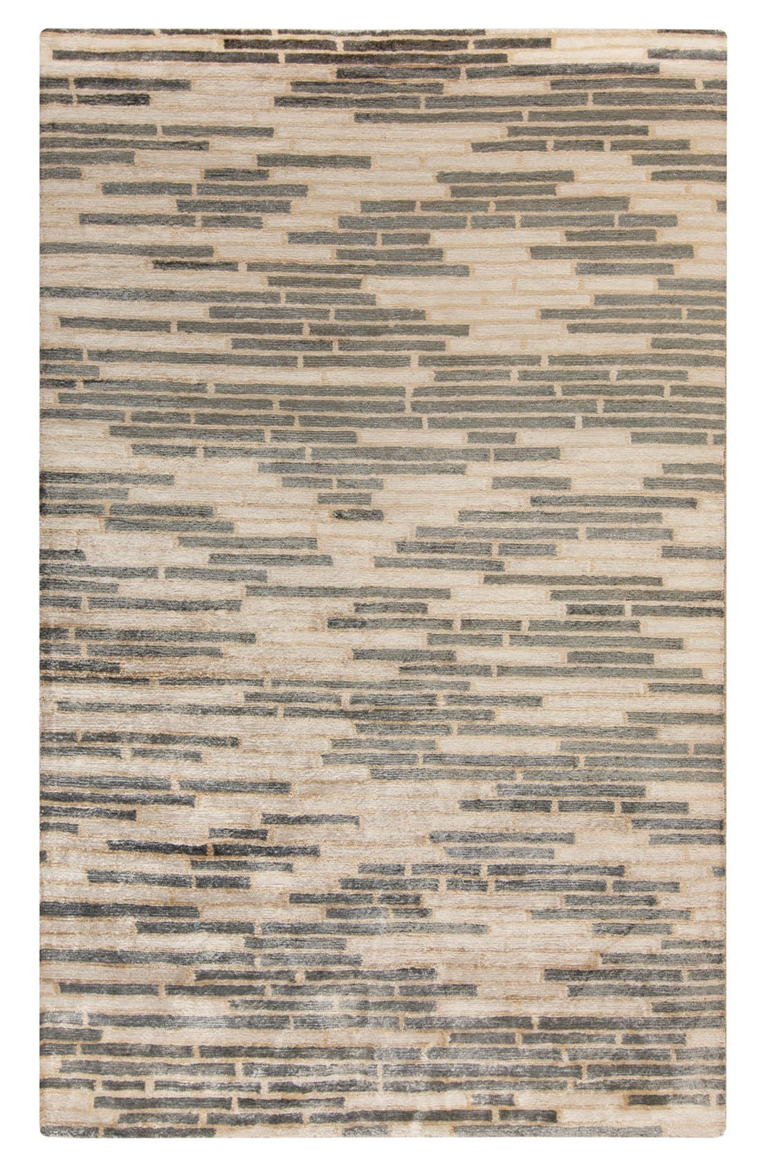 'Platinum' Hand Tufted Rug,                             Main thumbnail 1, color,                             CHARCOAL/ BEIGE/ IVORY