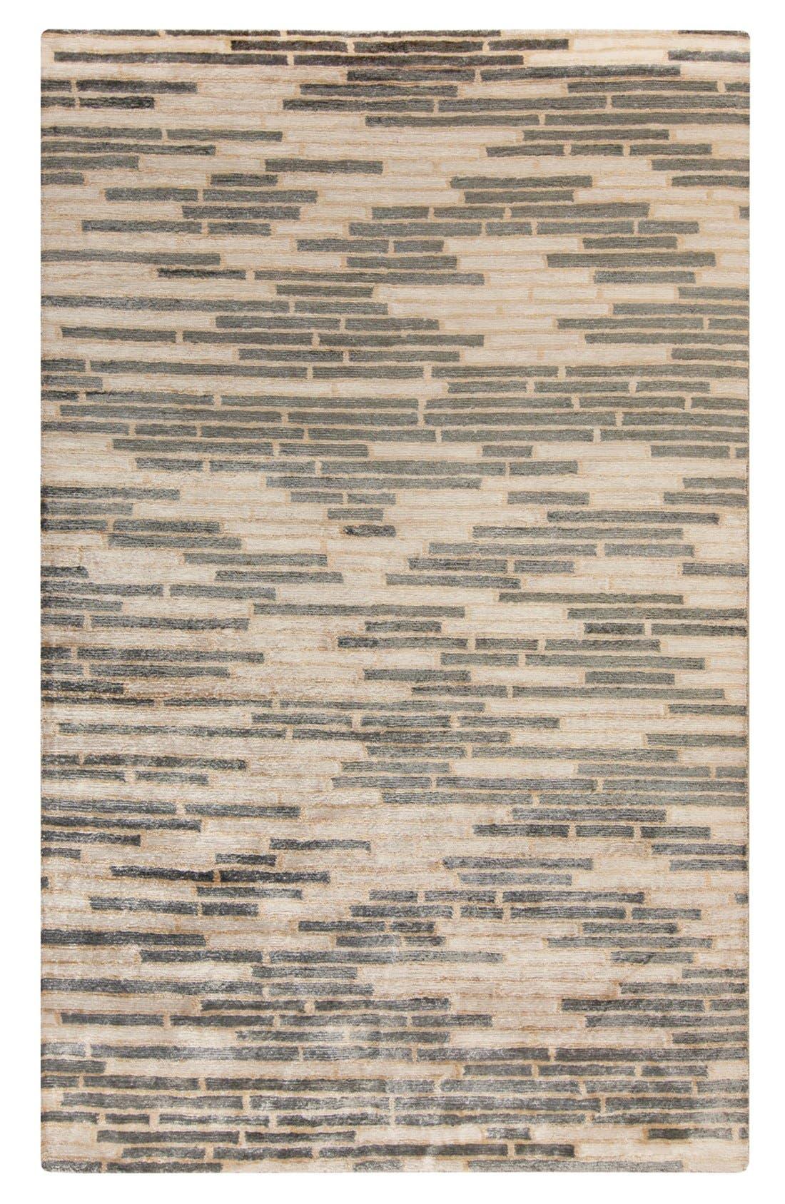 'Platinum' Hand Tufted Rug,                         Main,                         color, CHARCOAL/ BEIGE/ IVORY