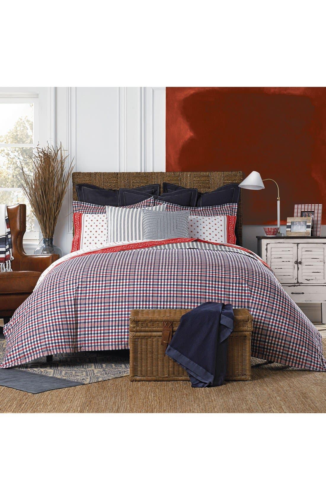Plaid Comforter & Sham Set,                             Main thumbnail 1, color,